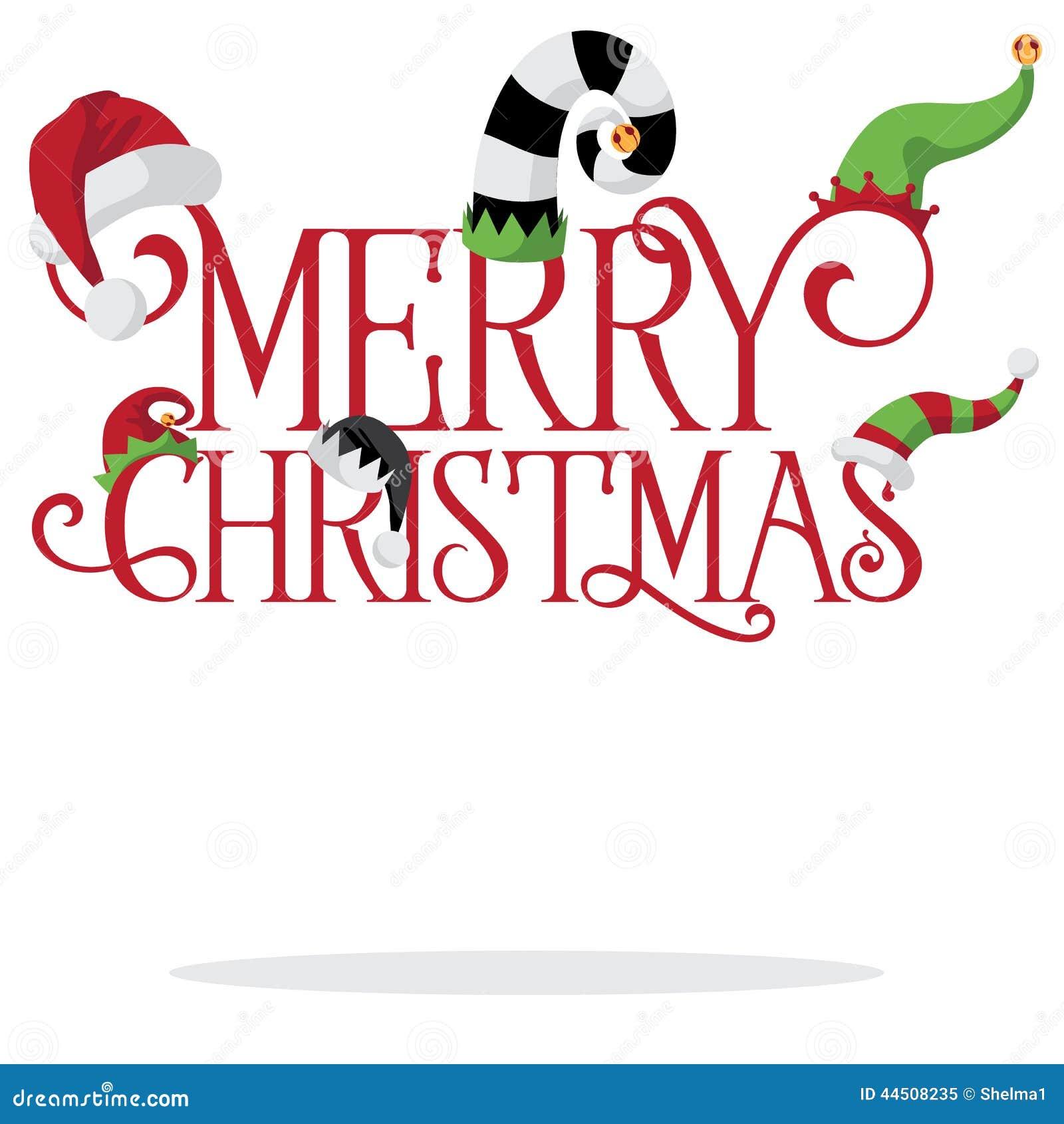 Feliz Natal com chapéus do feriado