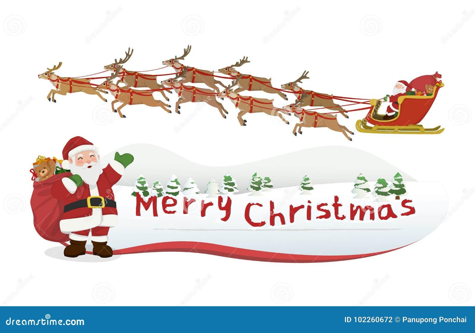Feliz Natal De Papai Noel Ilustracao Do Vetor Ilustracao De