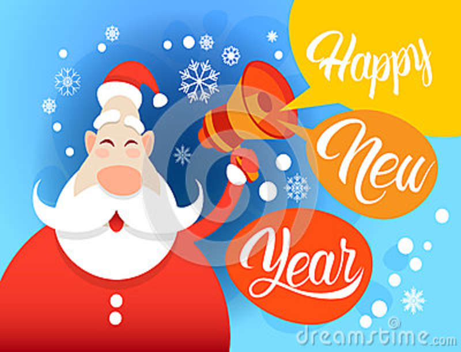 Feliz Natal do feriado do ano de Santa Claus Hold Megaphone Happy New