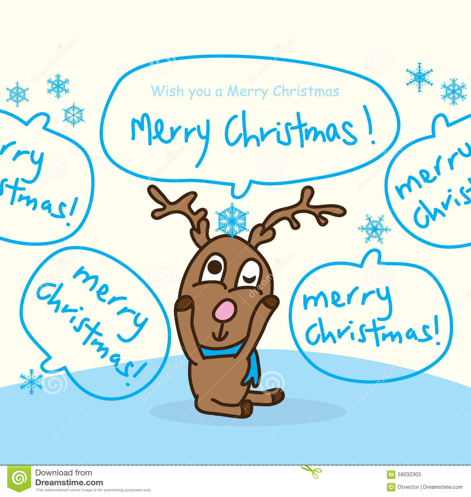 Feliz Natal do floco de neve do sono dos cervos