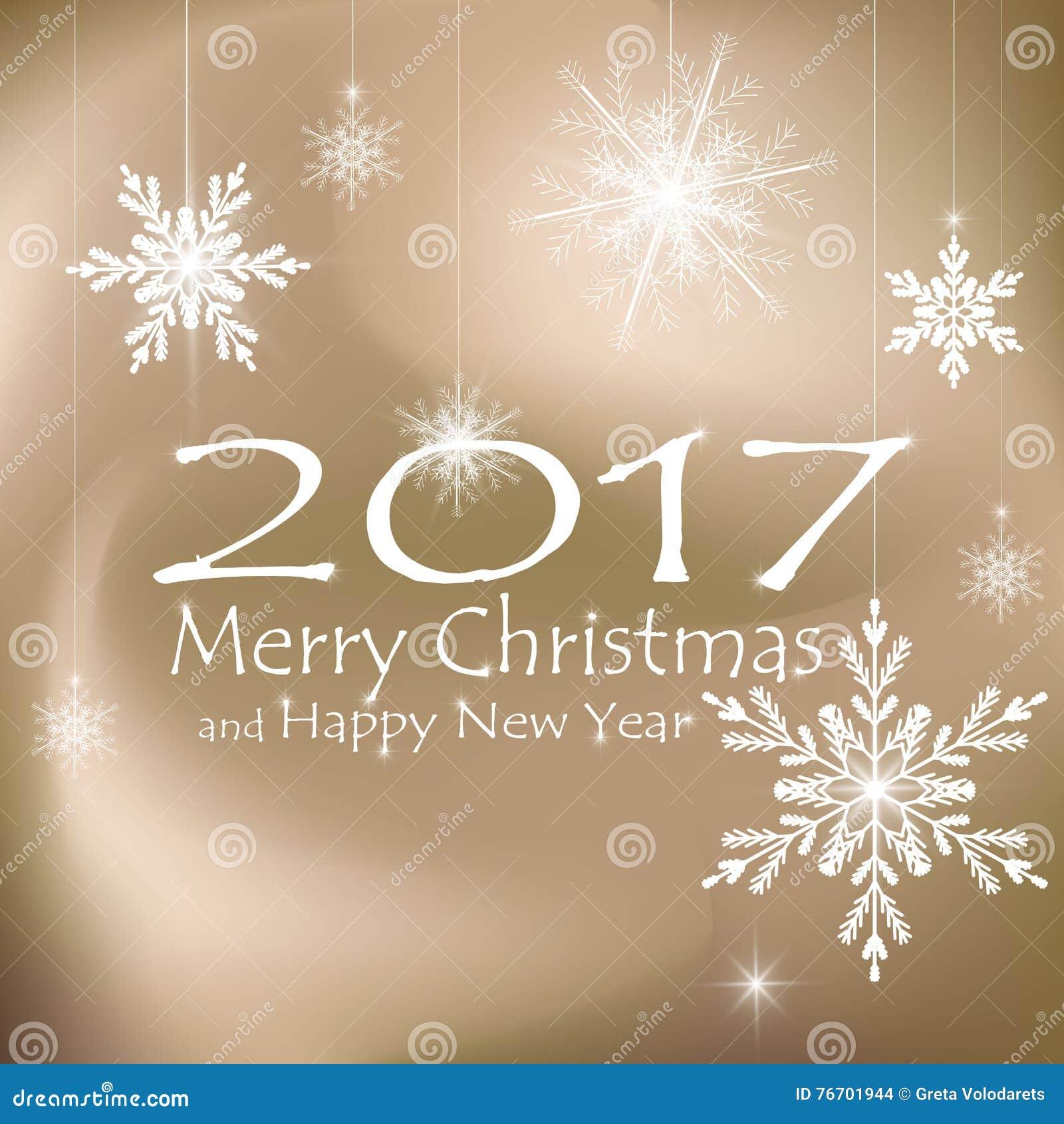 Feliz Natal e decorações do cartão do ano novo feliz Fundos bege