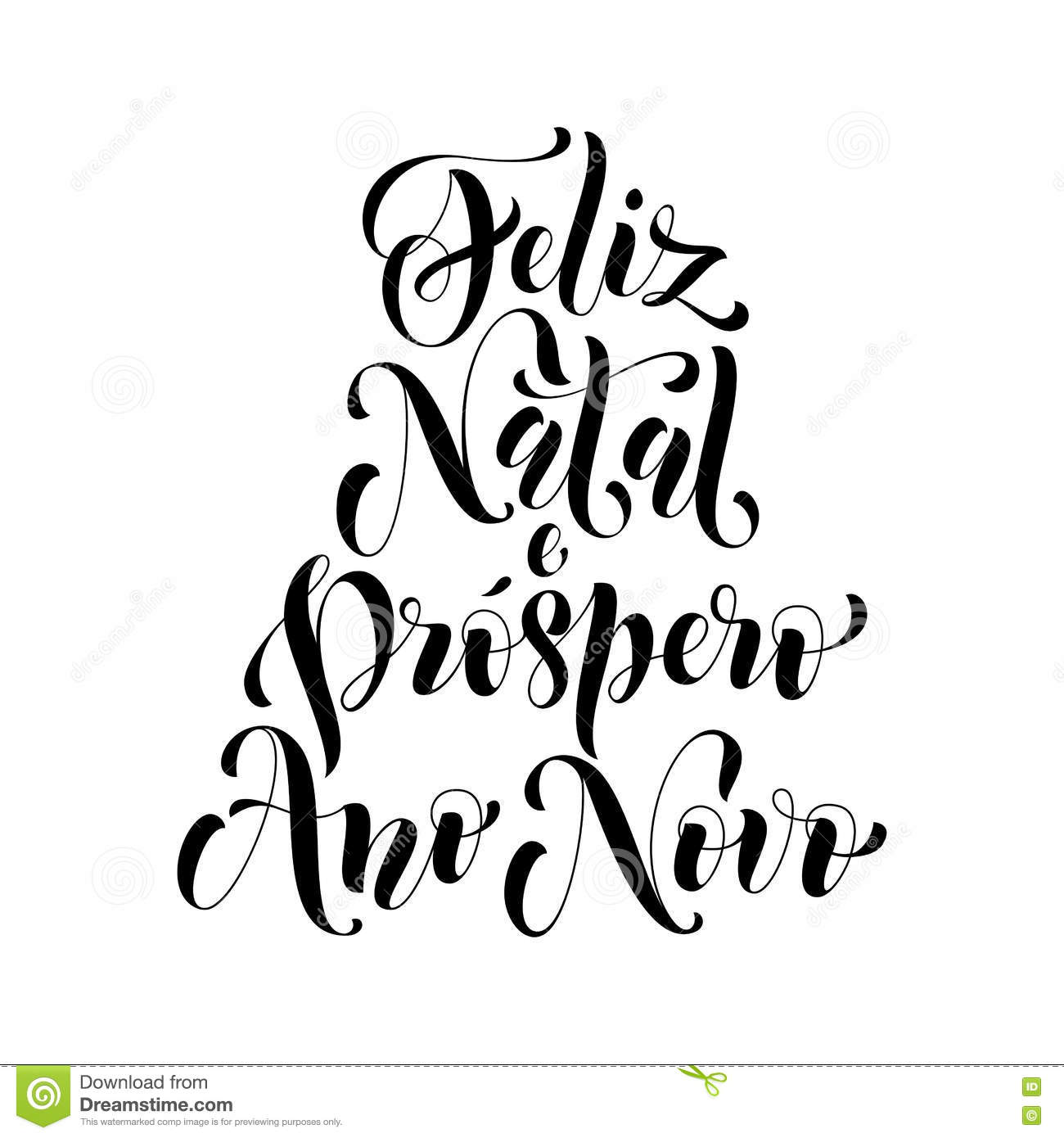 Feliz natal greeting portuguese merry christmas stock illustration feliz natal e prospero ano novo greeting for portuguese brazilian merry christmas xmas new year holiday card vector hand drawn festive text for banner m4hsunfo