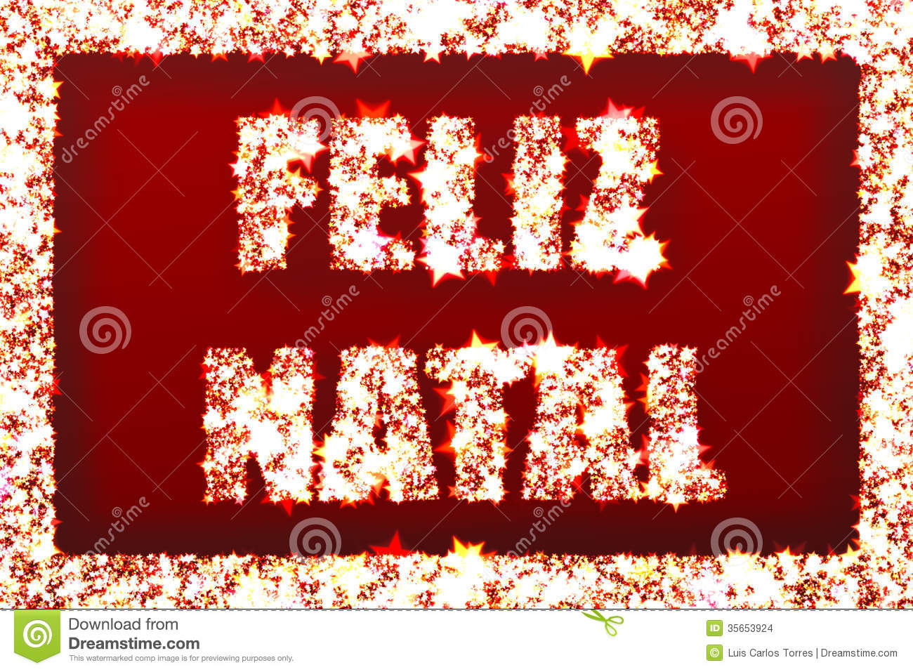 Feliz Natal - Merry Christmas Stock Images - Image: 35653924
