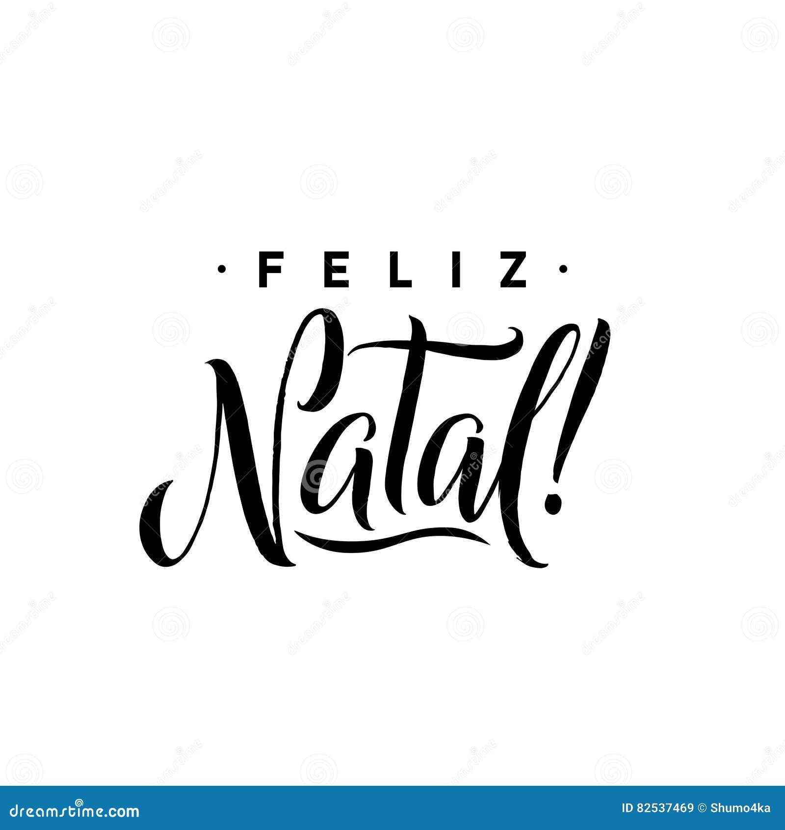Feliz Natal Plantilla De La Caligrafía De La Feliz Navidad En ...