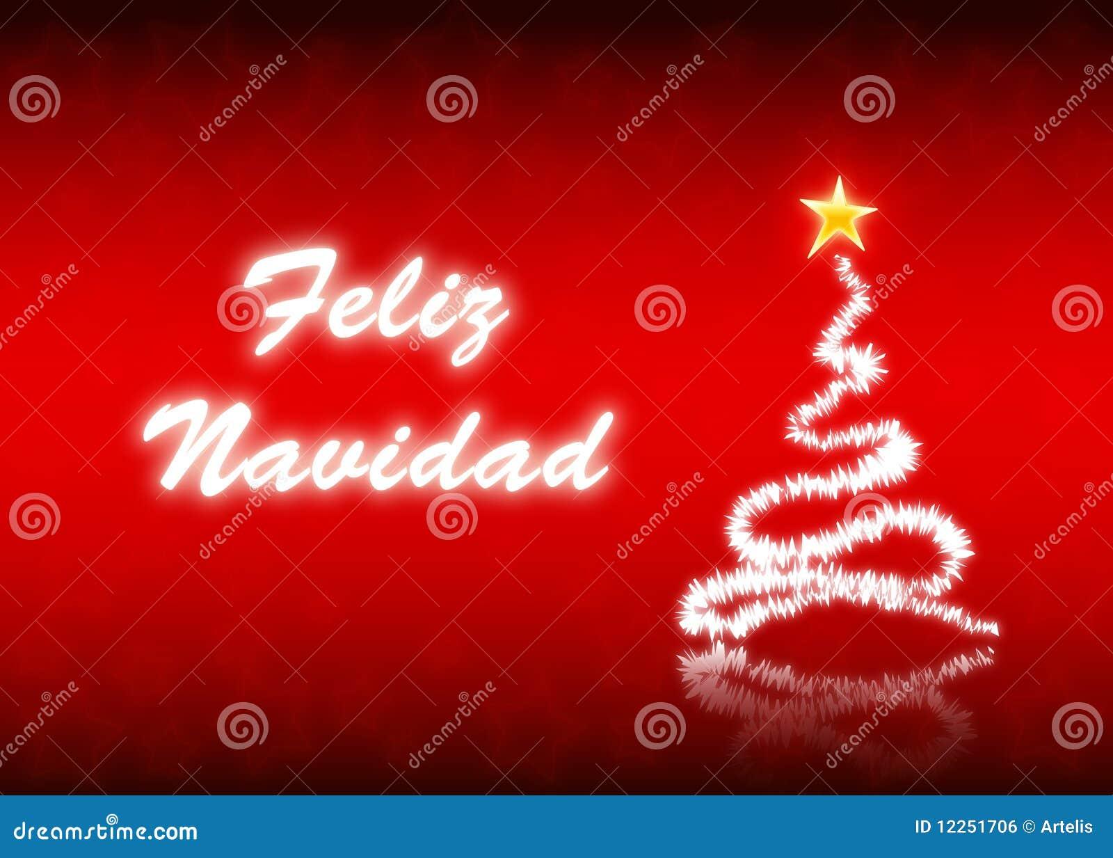 Feliz navidad royalty free stock image image 12251706 - Sapin de noel en espagnol ...