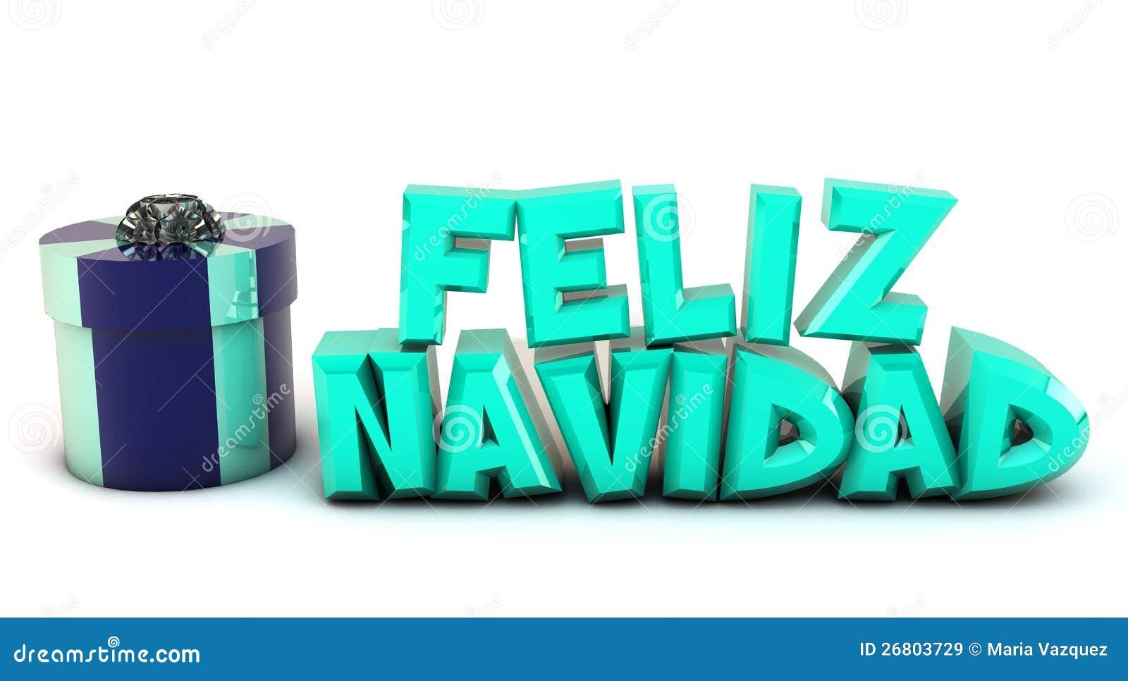 Feliz Navidad 3d En Español Imágenes de archivo libres de ...