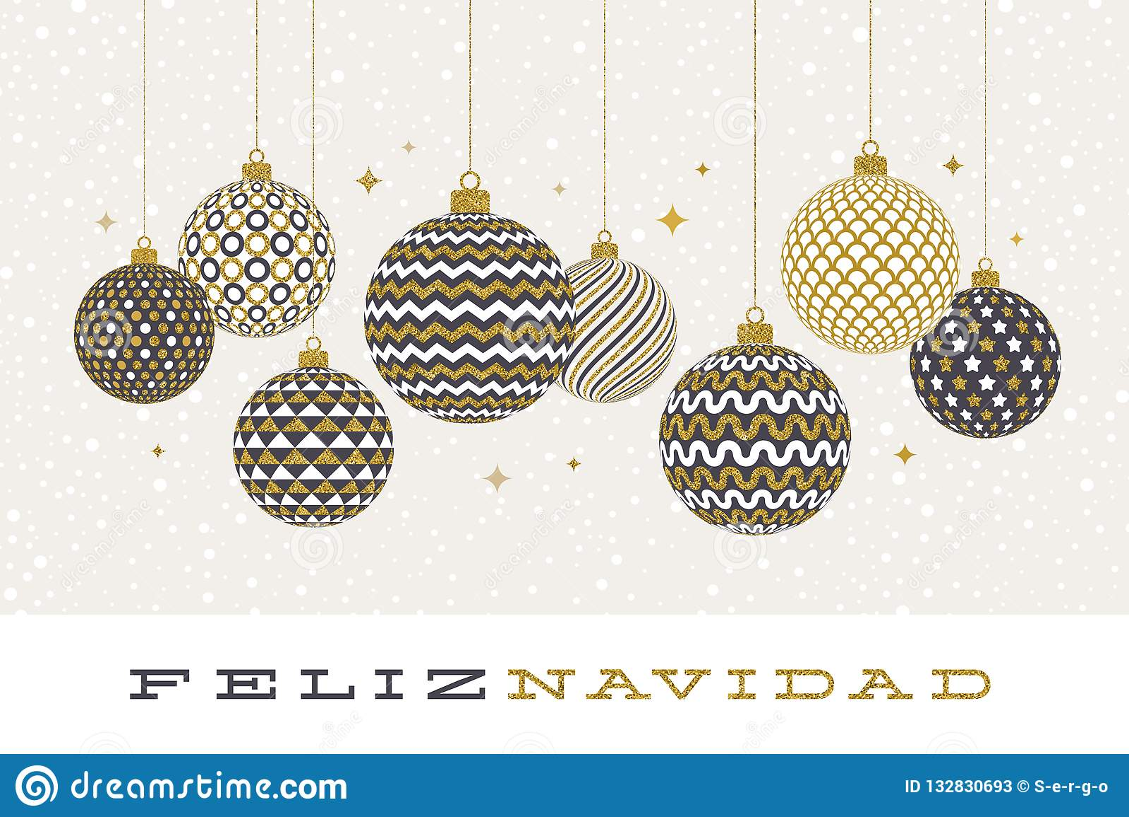 Christmas Wishes In Spanish.Feliz Navidad Christmas Greetings In Spanish Patterned