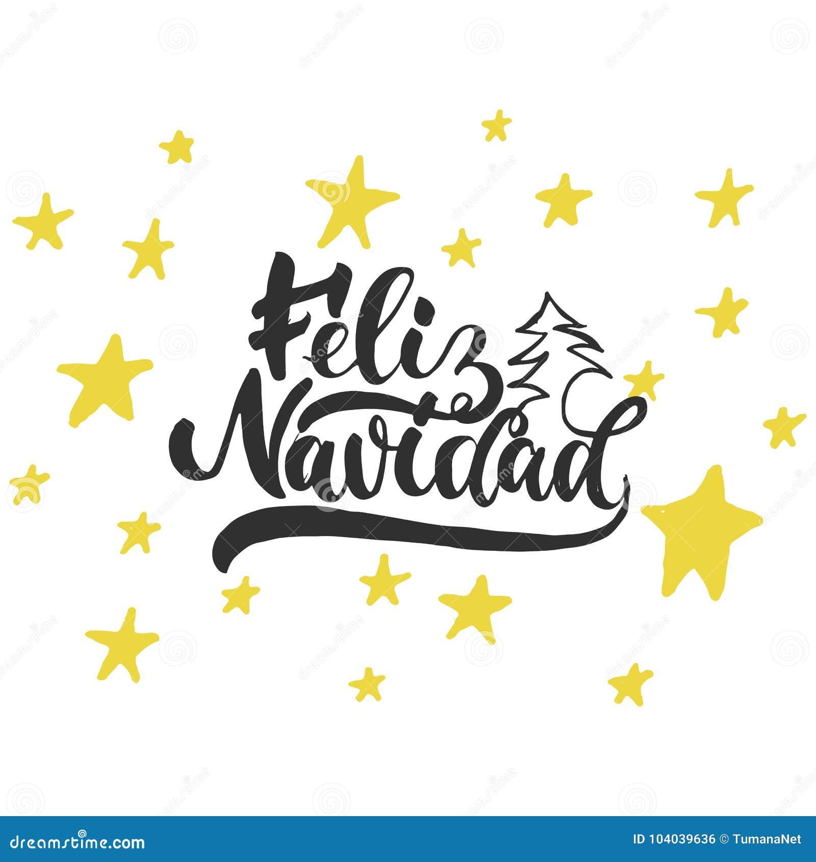 Feliz Navidad Frase De La Caligrafía Del Día De Fiesta De