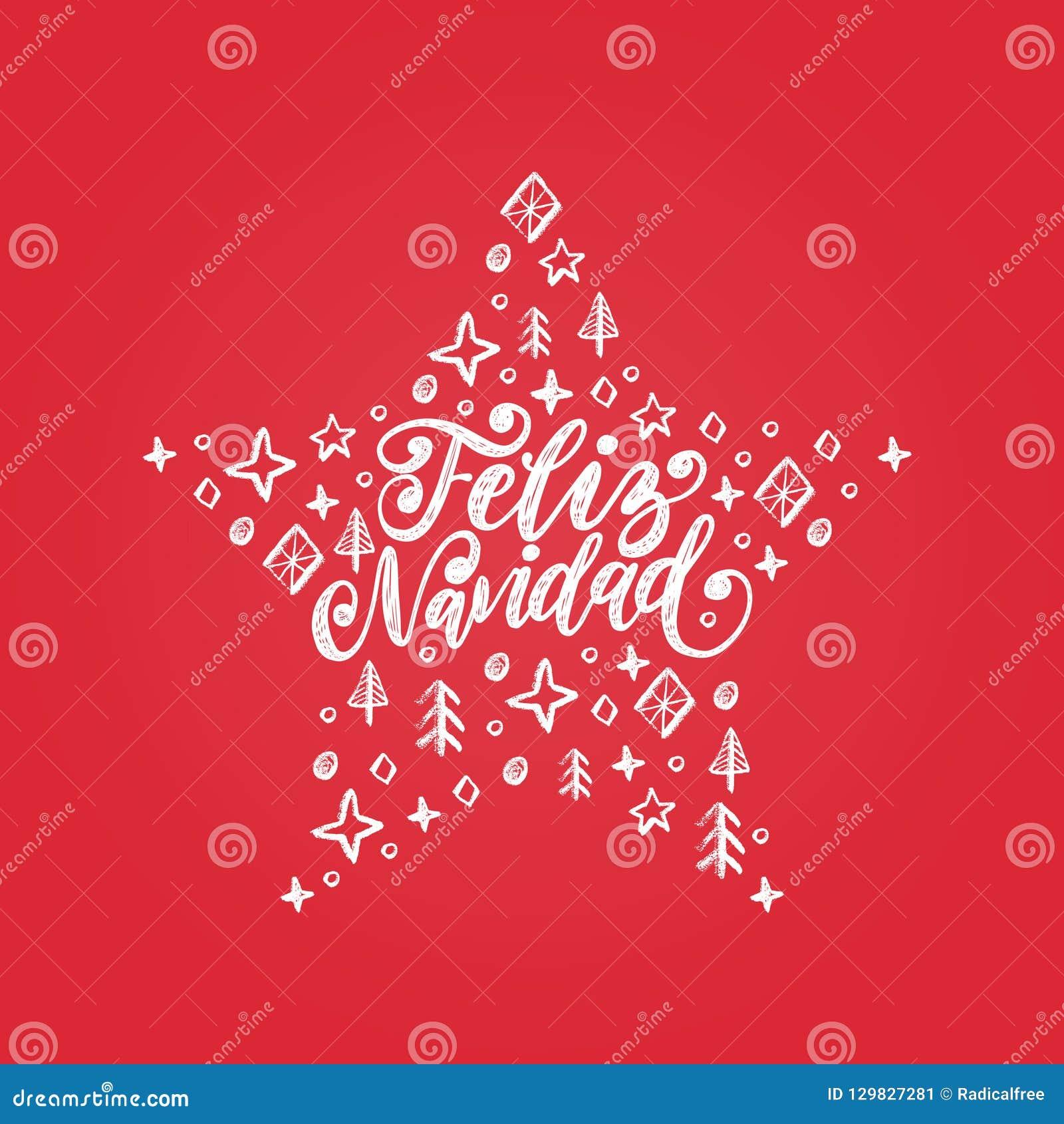 Frasi Per Buon Natale.Feliz Navidad Frase Scritta A Mano Tradotta Dal Buon
