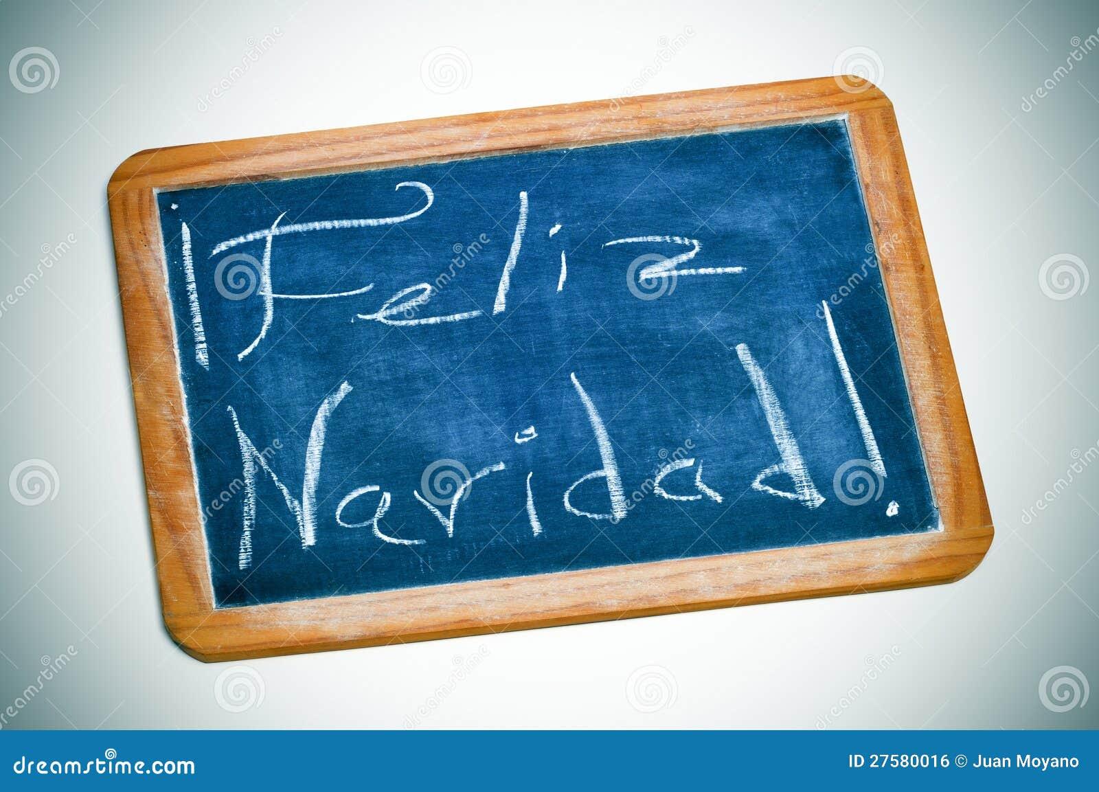 feliz navidad frohe weihnachten auf spanisch stockfoto. Black Bedroom Furniture Sets. Home Design Ideas