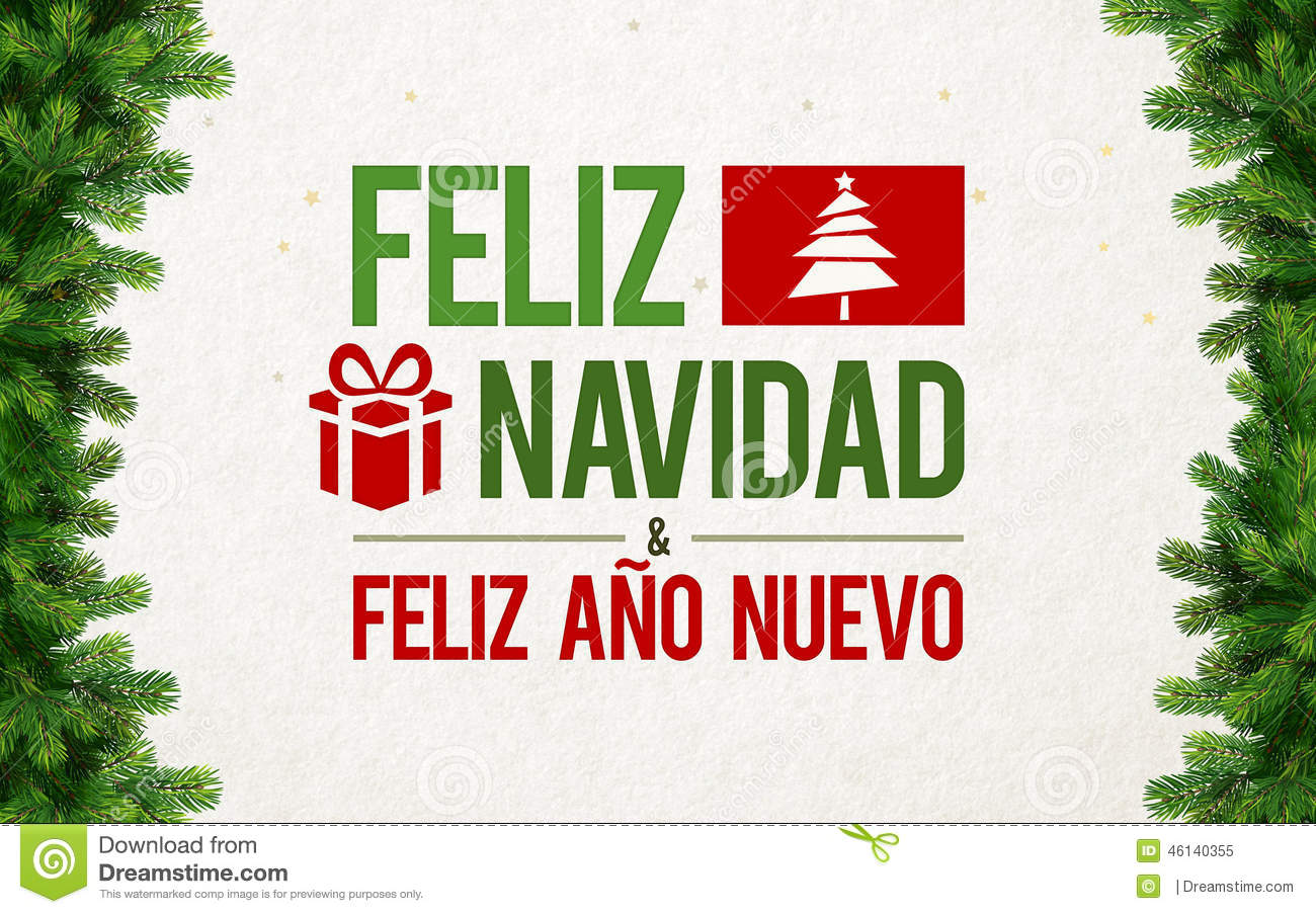 Feliz Navidad Greeting Card Stock Illustration Image
