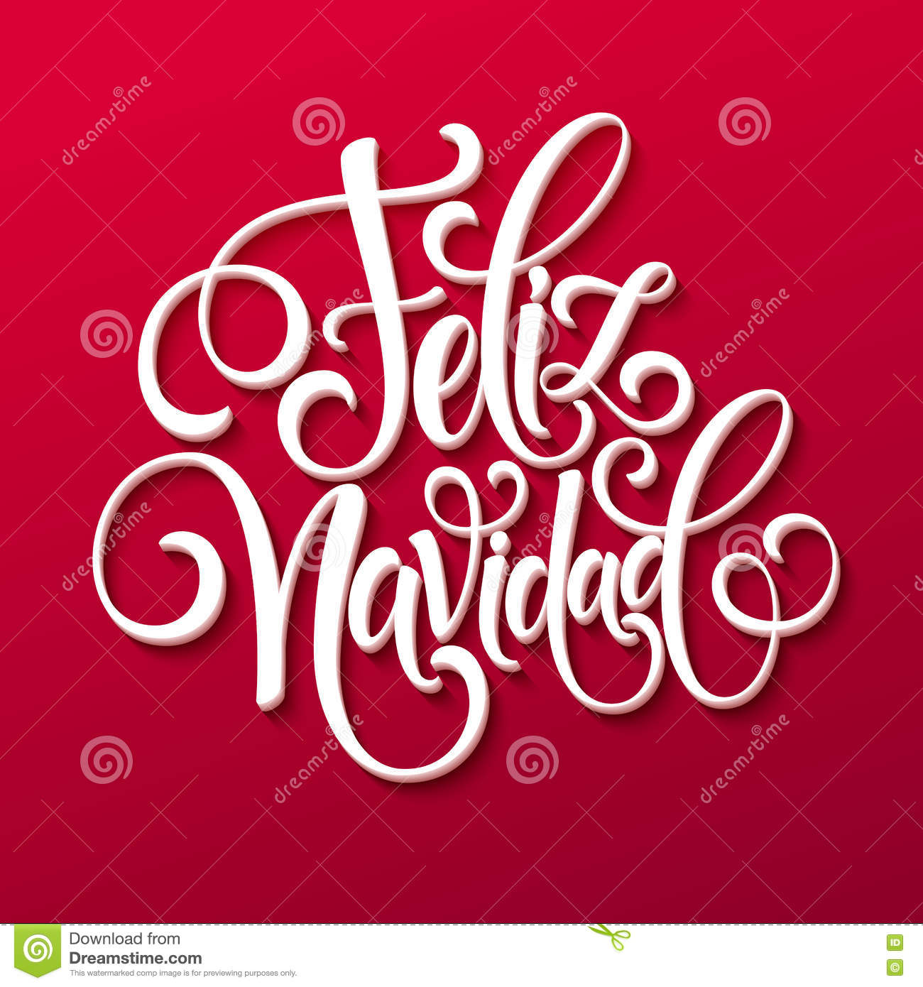 Feliz navidad hand lettering decoration text for greeting card feliz navidad hand lettering decoration text for greeting card design template merry christmas typography label in holiday celebration kristyandbryce Images