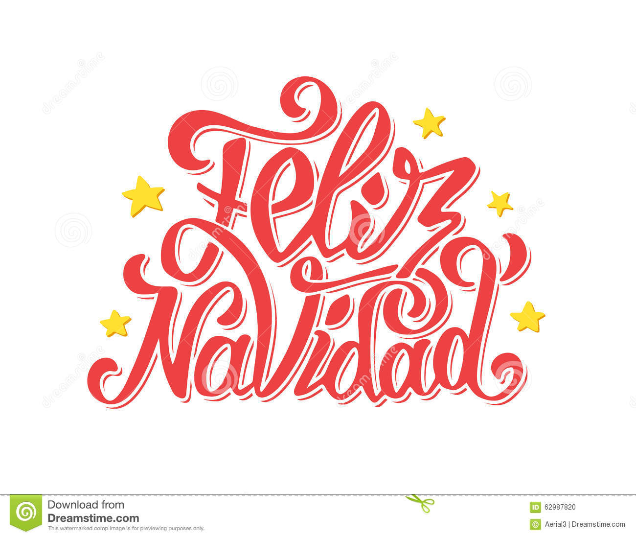 Feliz navidad lettering merry christmas greetings stock vector download comp m4hsunfo