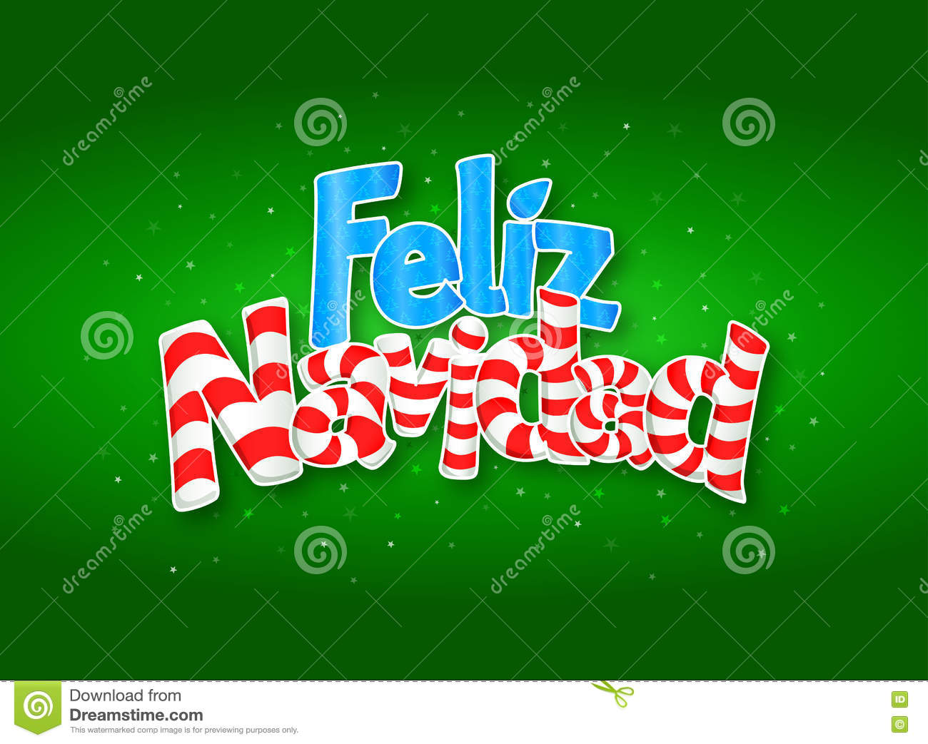 download feliz navidad merry christmas in spanish language green cover of greeting card with