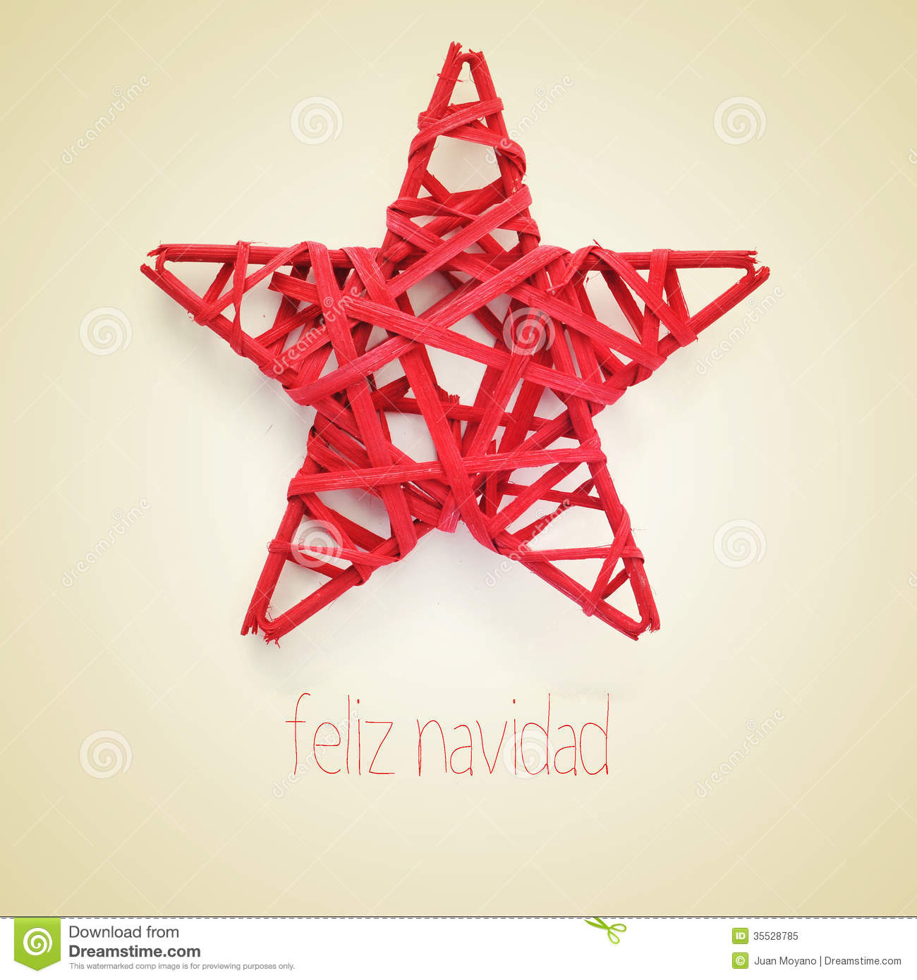 Merry En: Feliz Navidad, Merry Christmas In Spanish Stock Image