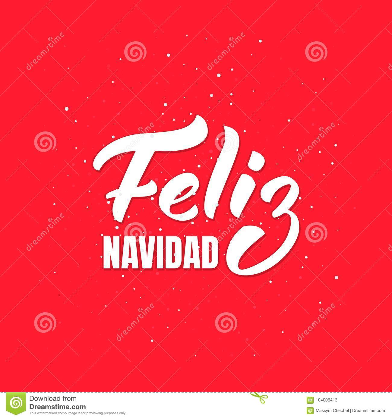 Feliz navidad merry christmas spanish text lettering design merry christmas spanish text lettering design holiday greeting card kristyandbryce Images