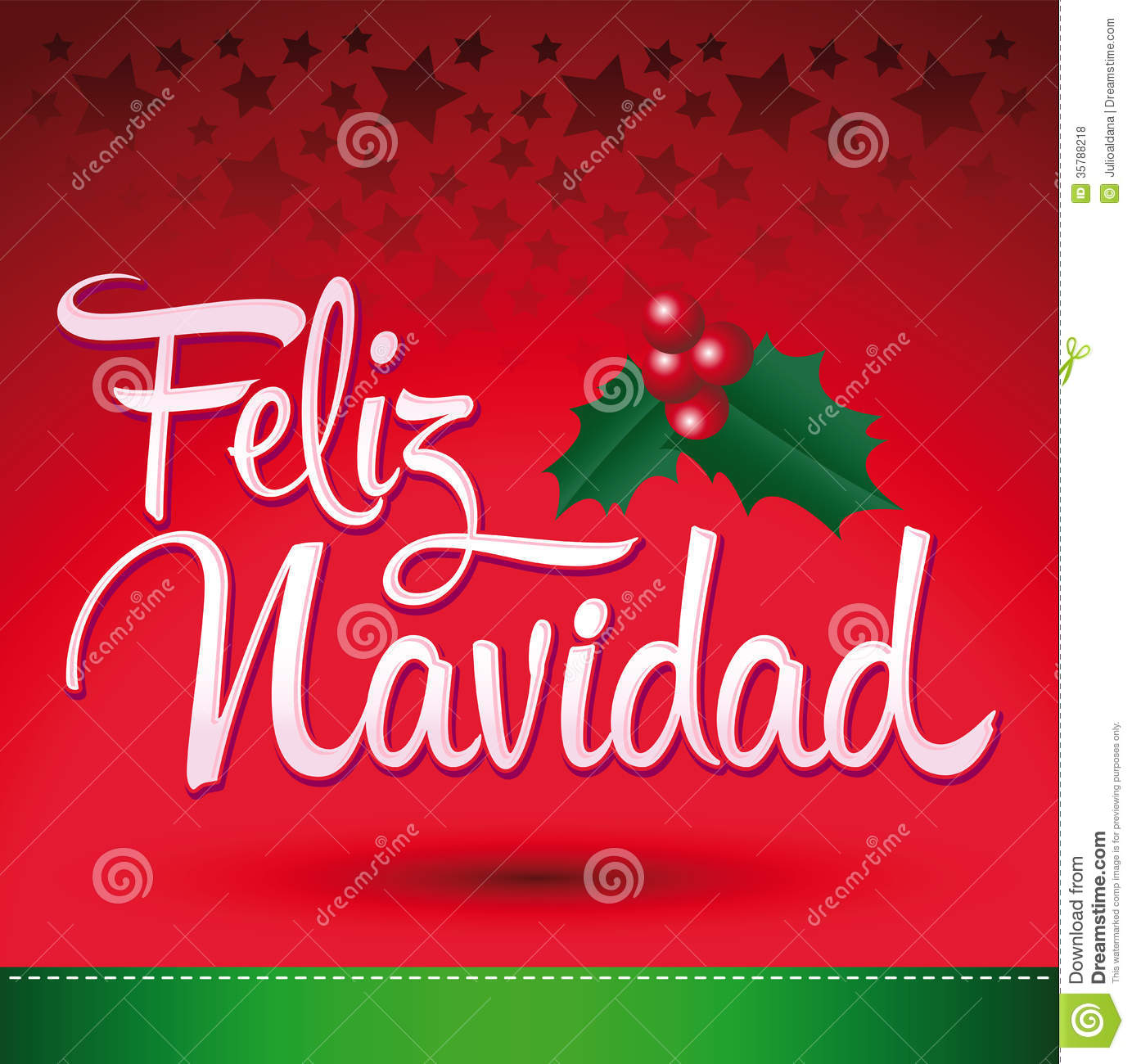 Merry christmas card with greetings in spanish language feliz feliz navidad royalty free stock photos m4hsunfo
