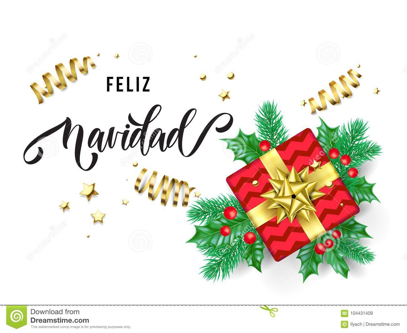 Christmas Spanish.Feliz Navidad Merry Christmas Spanish Trendy Quote