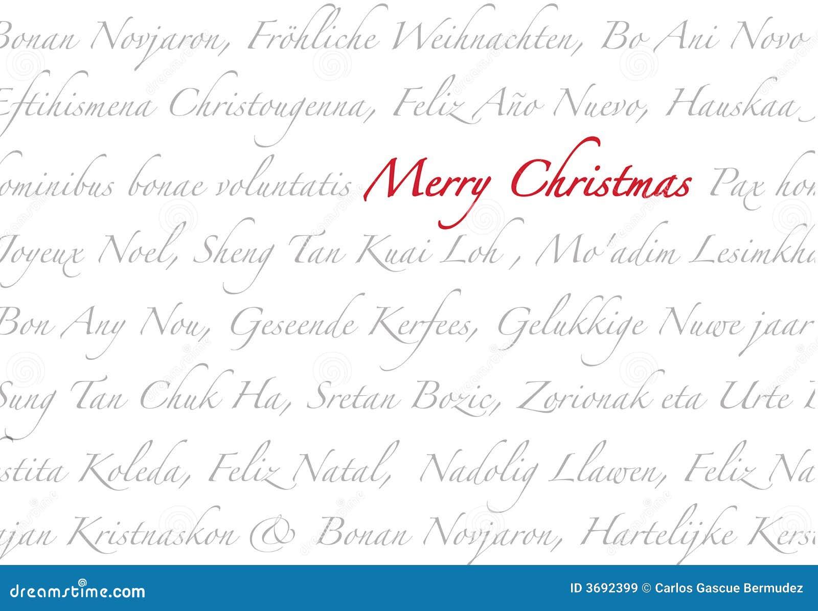 Feliz Navidad multilingue