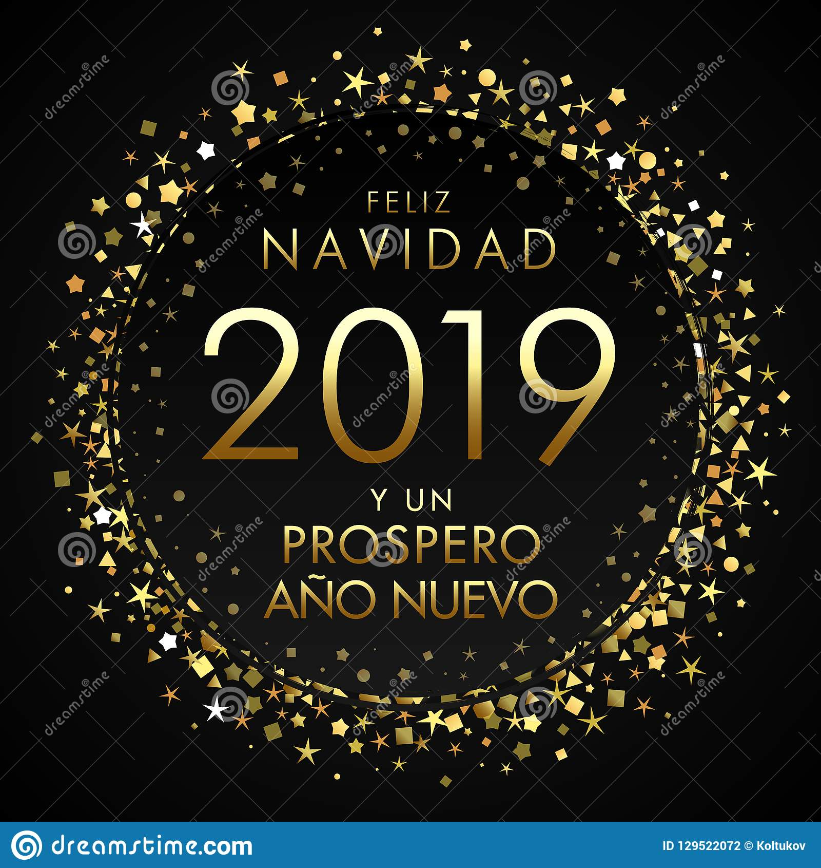 2019 feliz navidad spanish greeting card translate merry christmas and happy new year