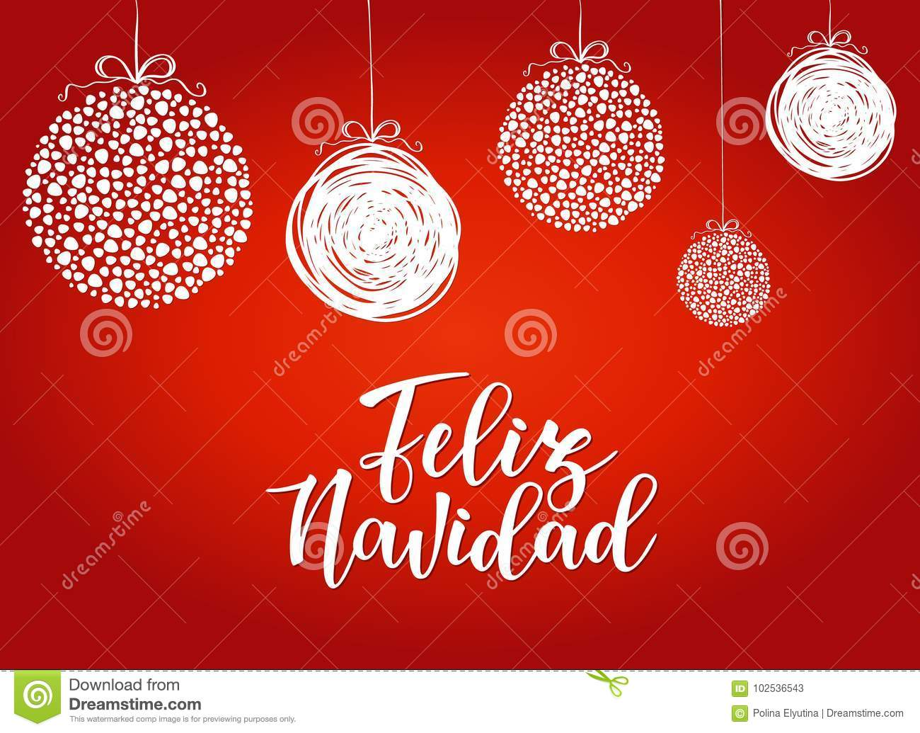 feliz navidad spanish typography lettering holiday greetings quote isolated white great christmas new year cards gift