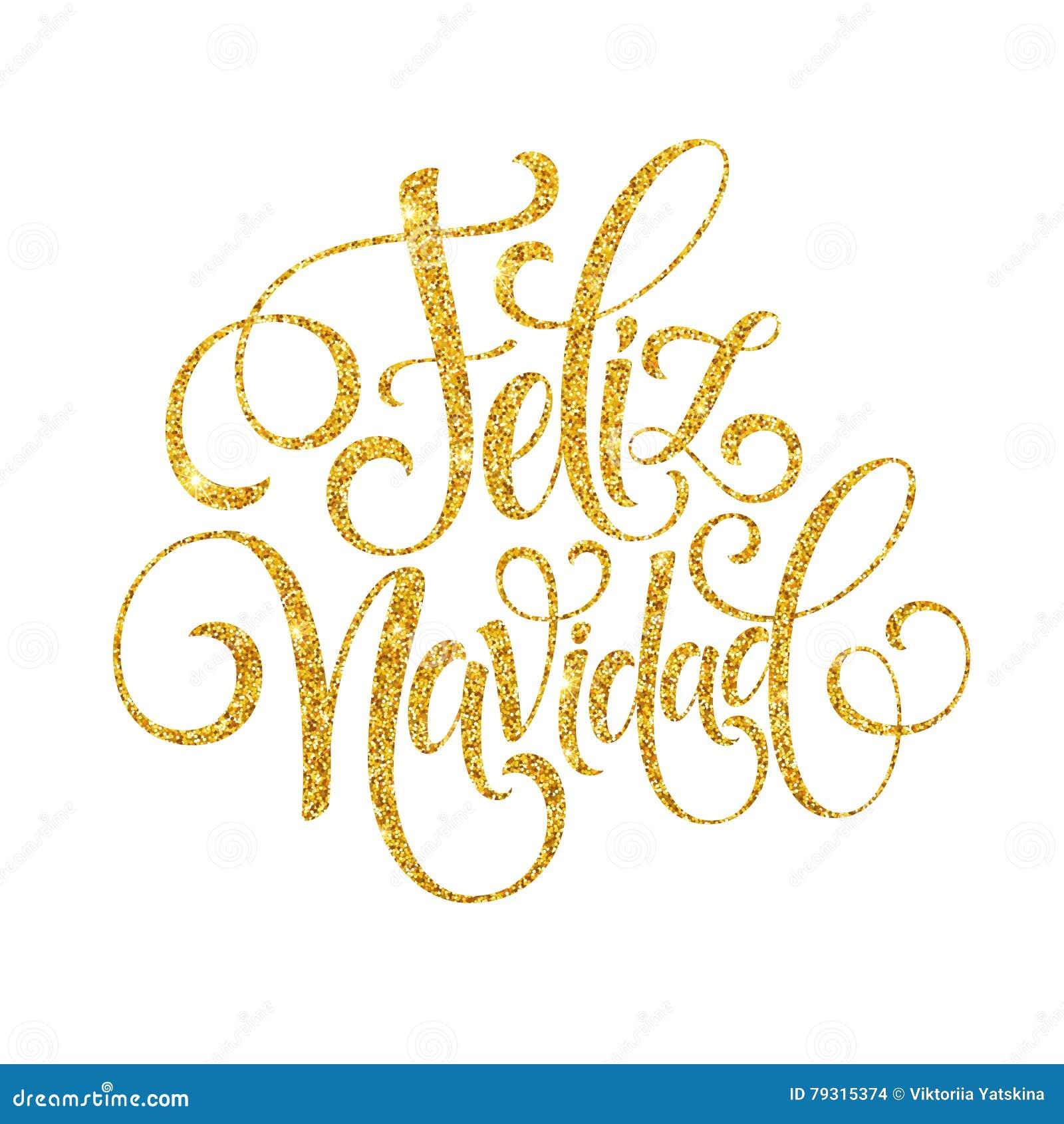 Feliz navidad tekst van de hand de van letters voorziende decoratie voor het ontwerpmalplaatje - Decoratie eenvoudig voor het leven ...