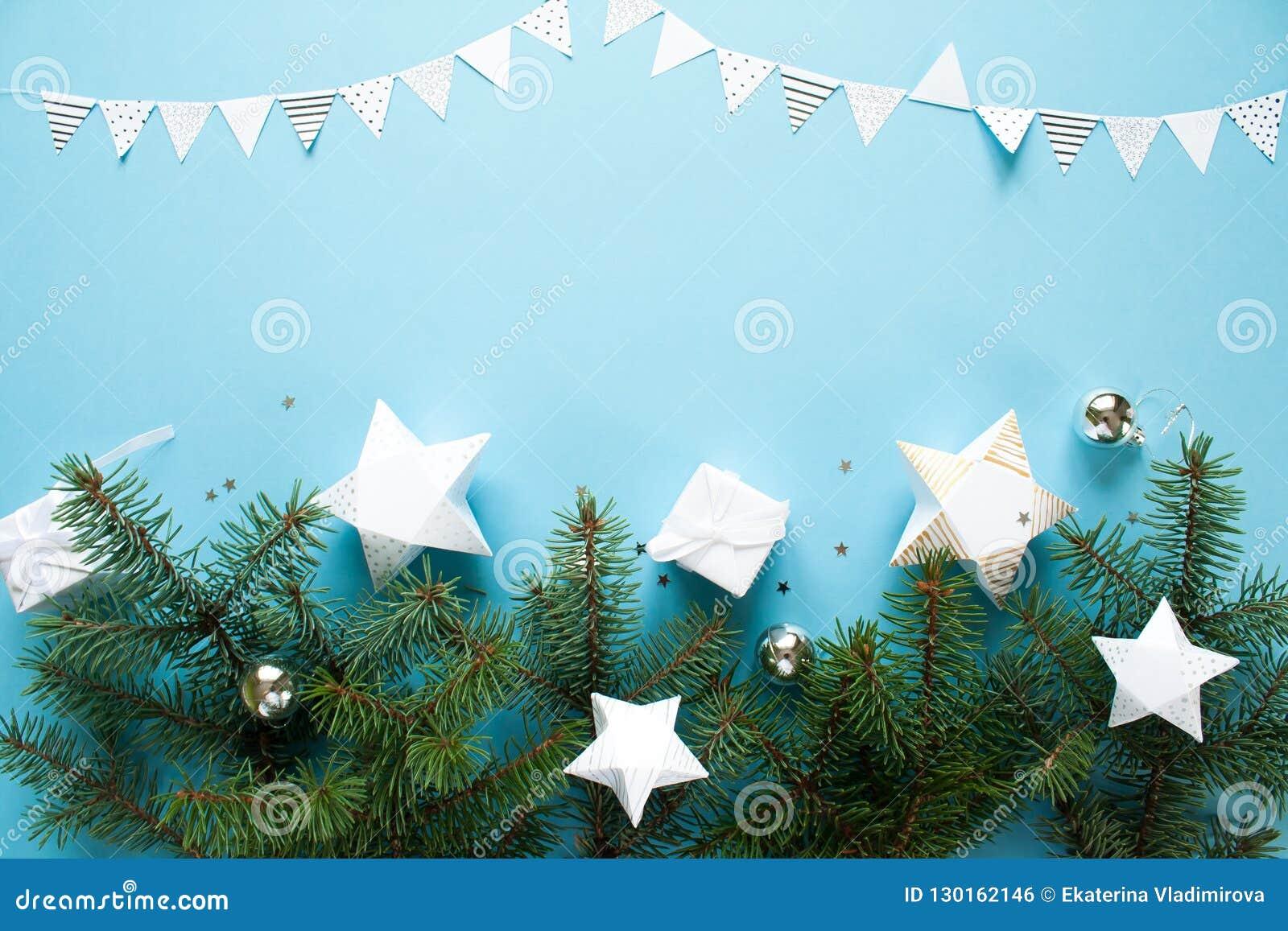 Feliz Navidad Y Feliz Año Nuevo Fondo Para Una Tarjeta De La