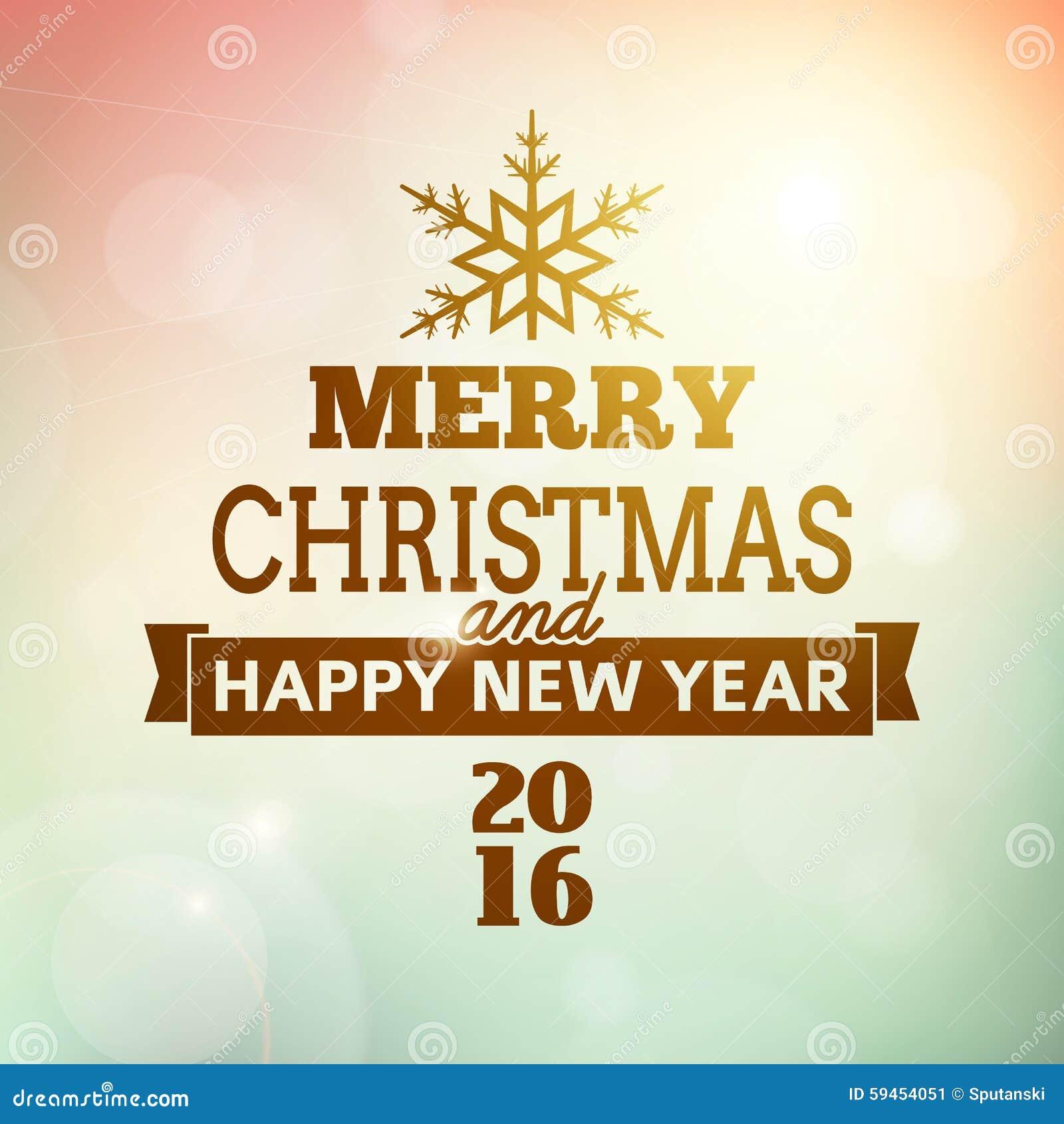 feliz navidad y cartel de la feliz ao nuevo ilustracin del vector