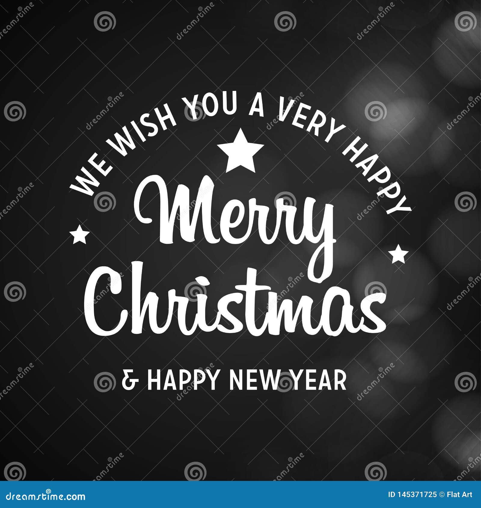 Feliz Navidad y fondo negro de la Feliz Año Nuevo 2019