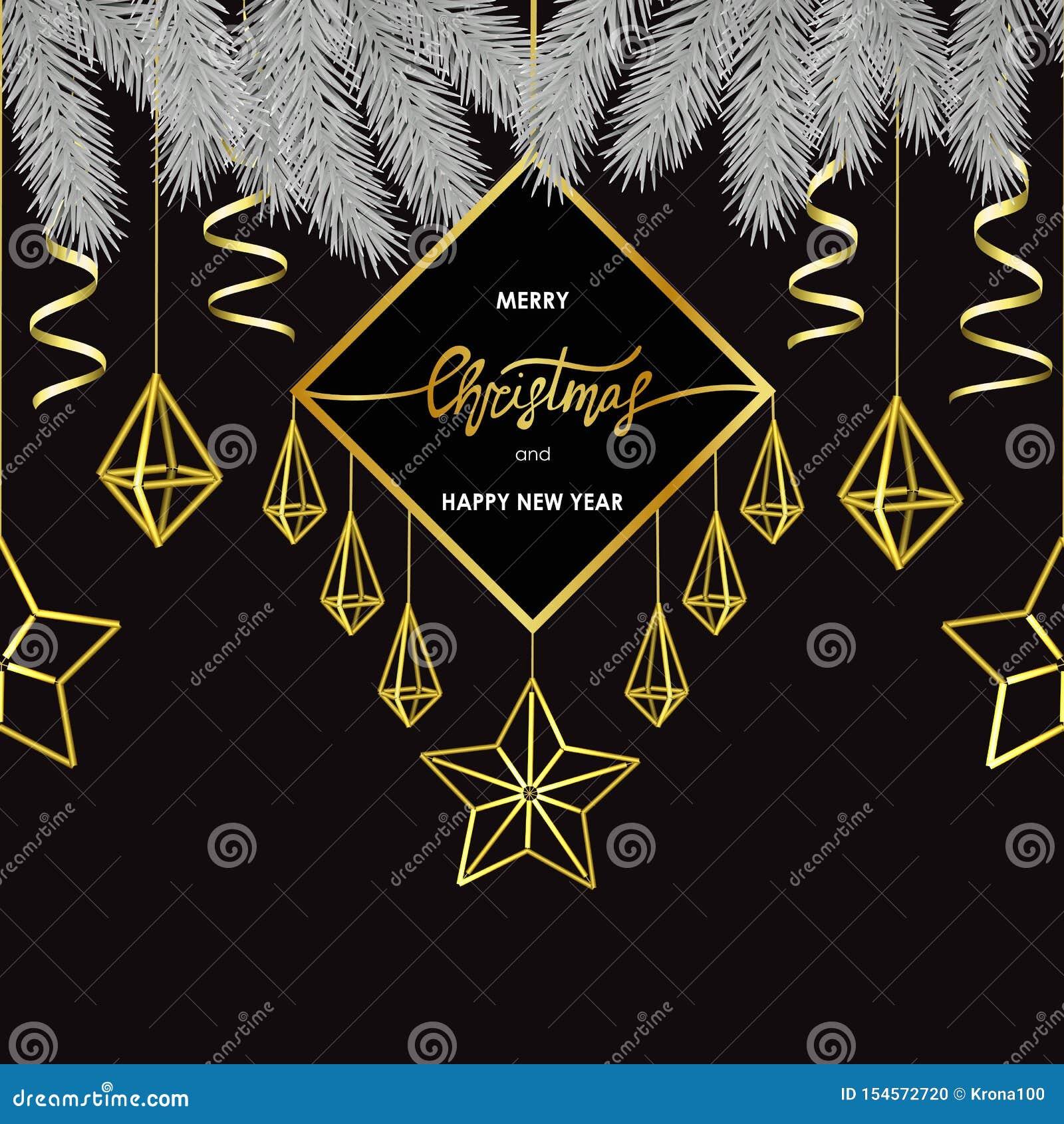 Feliz Navidad y tarjeta escandinava del estilo de la Feliz Año Nuevo