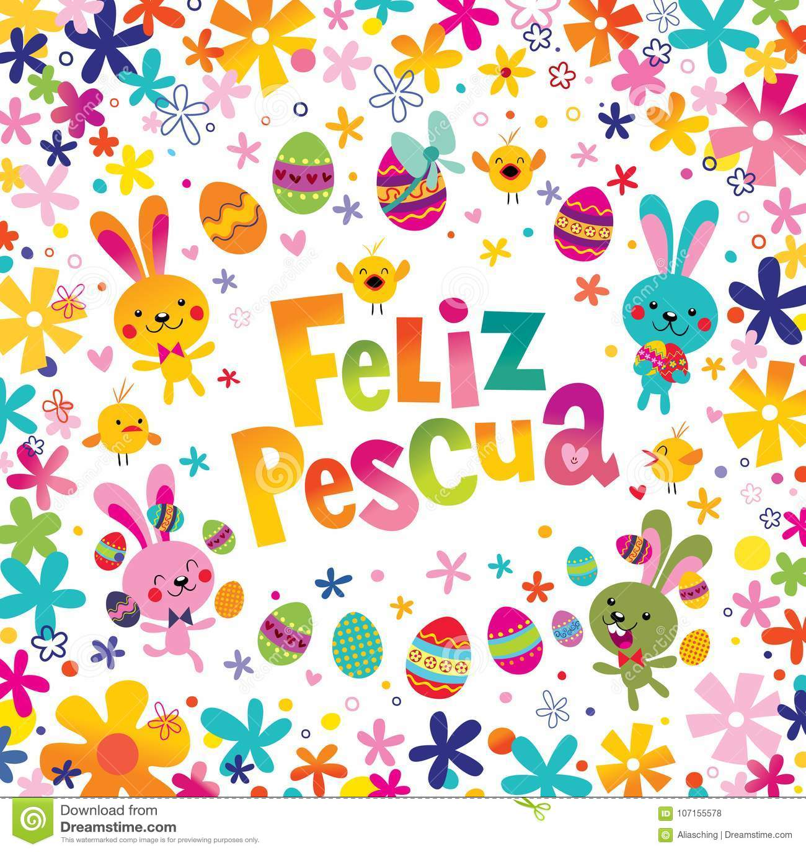 Feliz pascua happy easter in spanish greeting card stock vector download feliz pascua happy easter in spanish greeting card stock vector illustration of type m4hsunfo