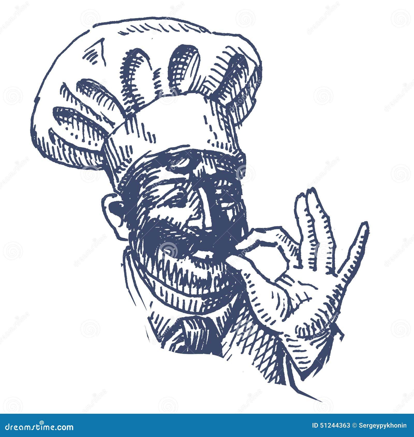 Feliz Plantilla Del Diseño Del Logotipo Del Vector Del Cocinero ...