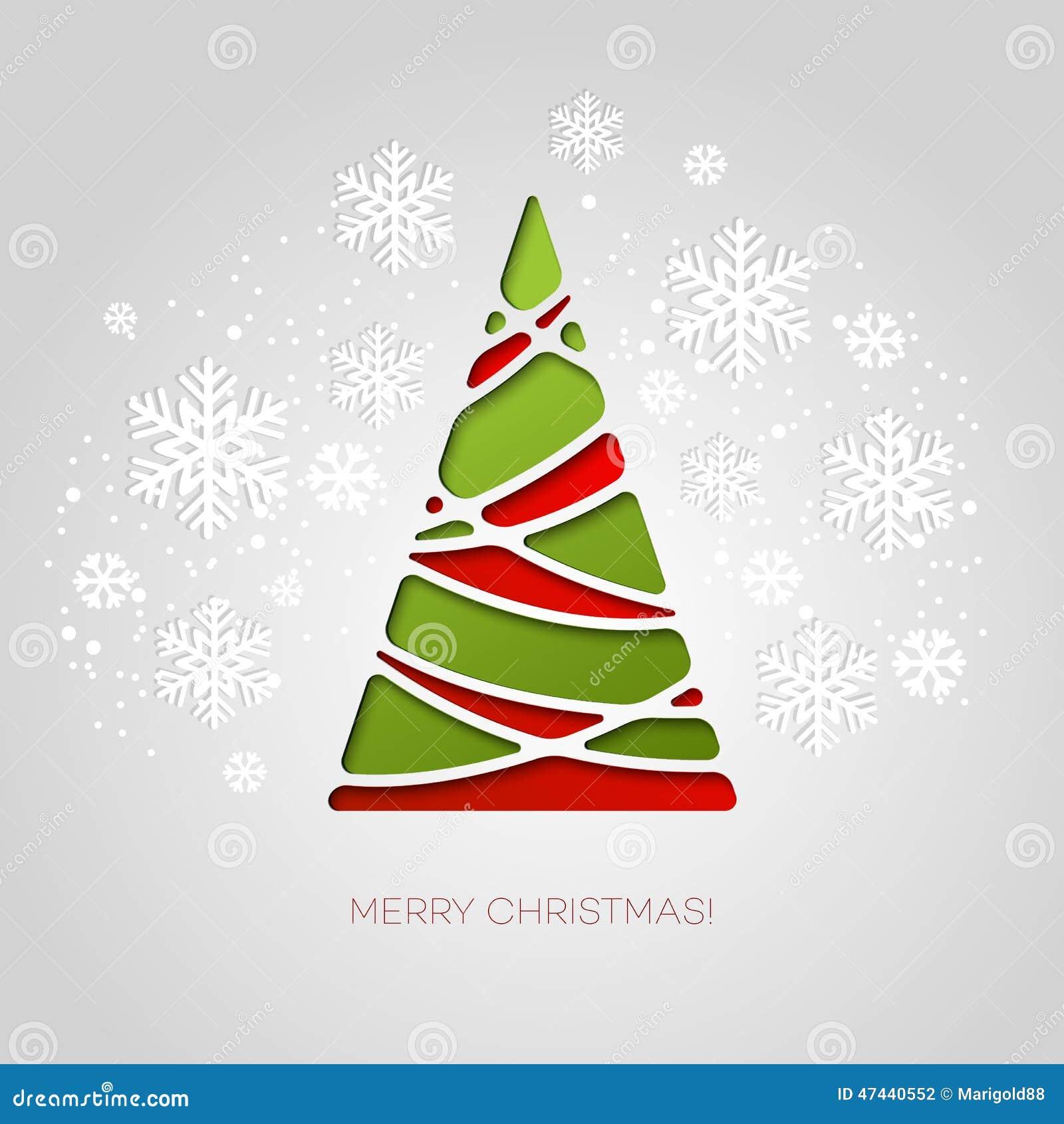 Feliz tarjeta de felicitaci n del rbol de navidad dise o - Diseno de arboles de navidad ...