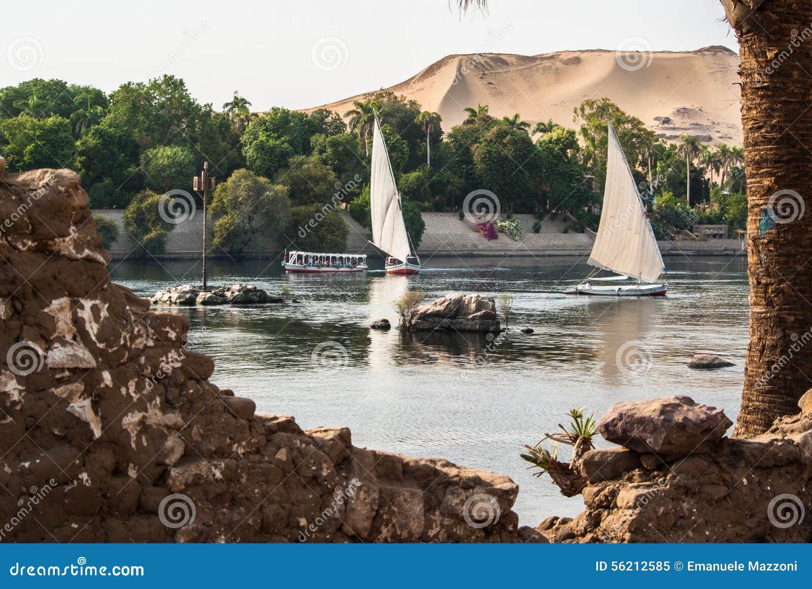 Felluca su Nilo, Egitto