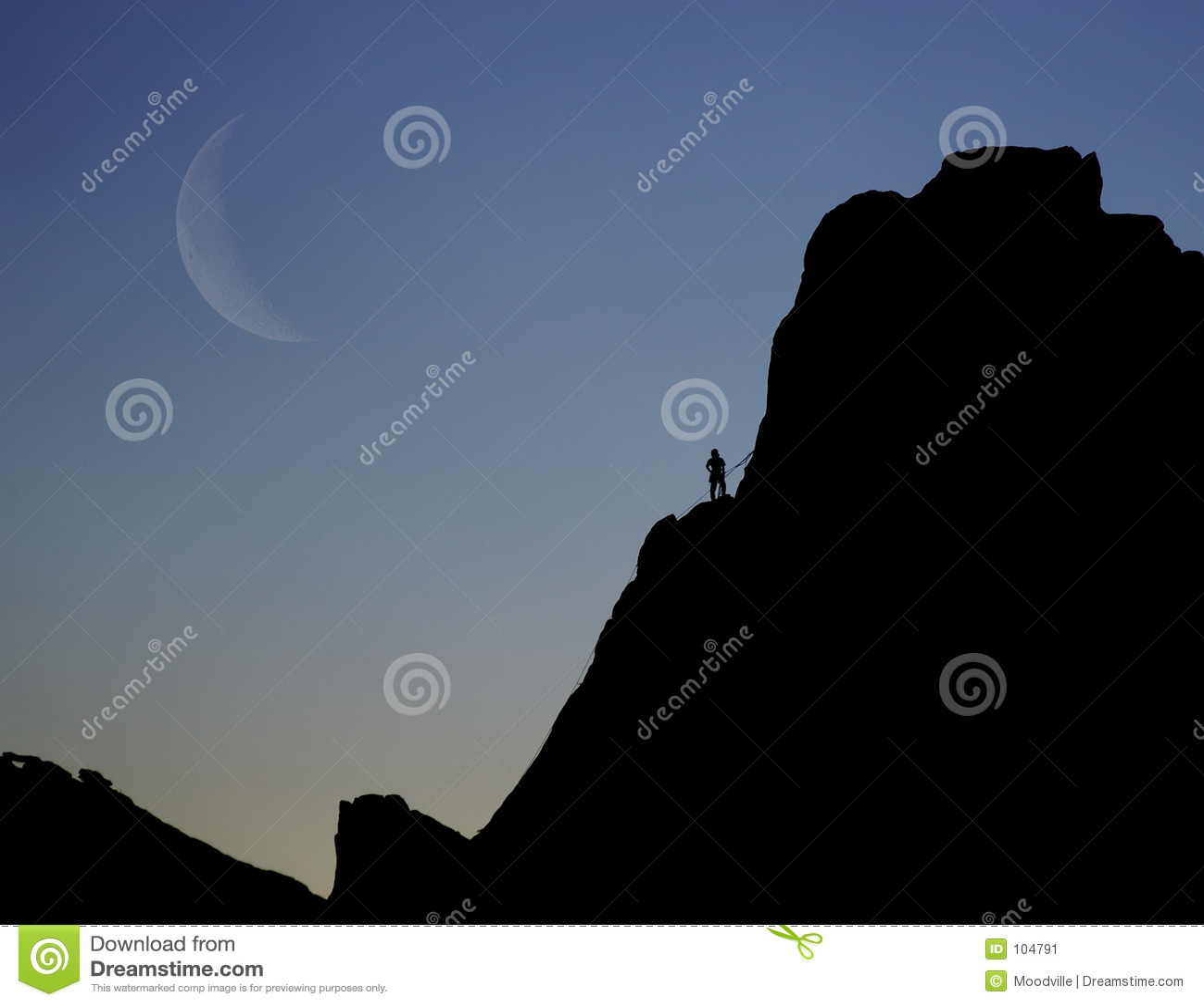 Felsen-Bergsteiger