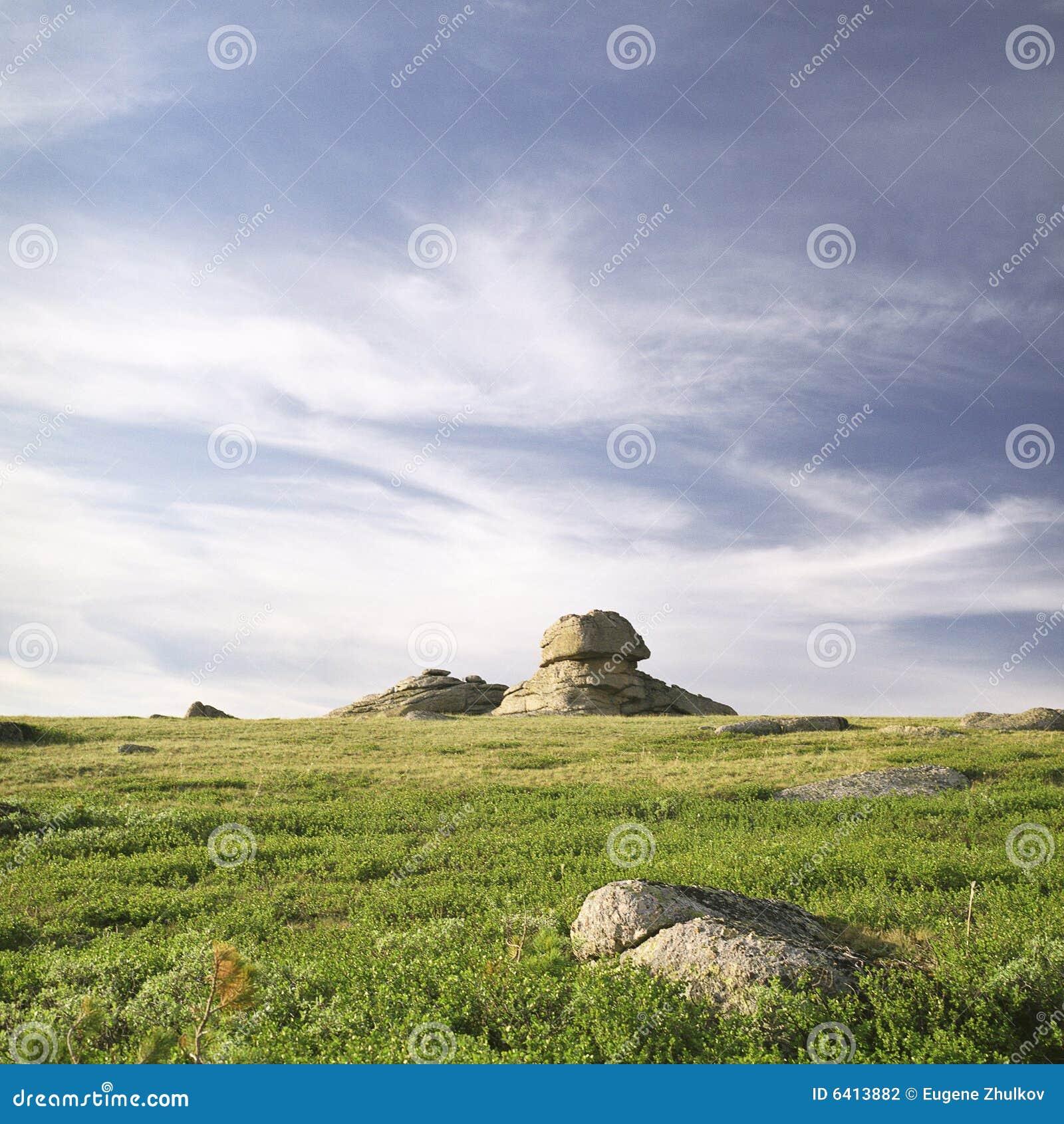 Felsen in den hohen Bergen