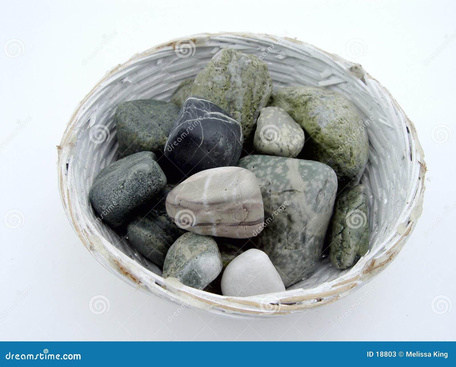 Felsen in der Schüssel