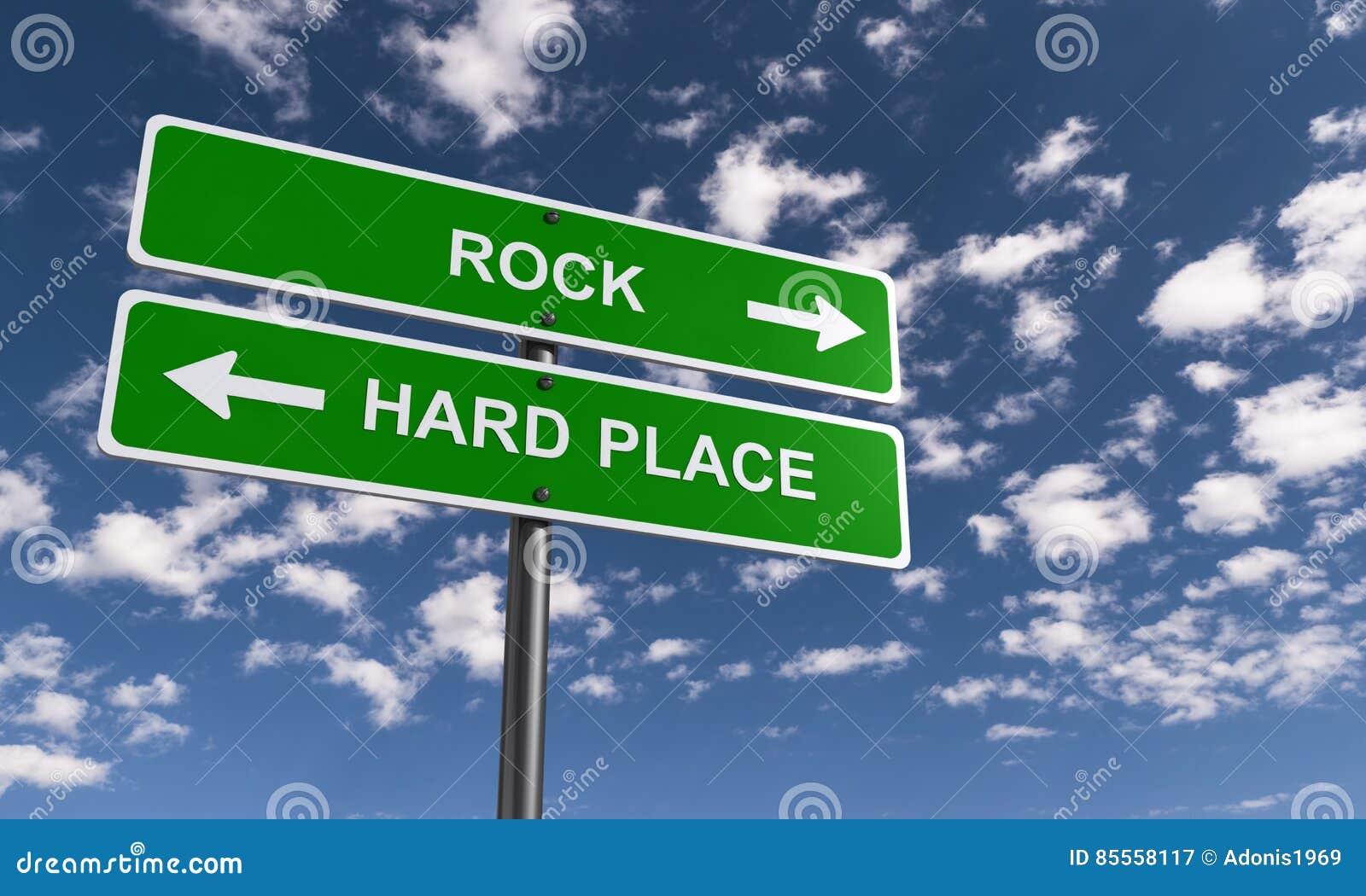 Felsen und ein harter Platz