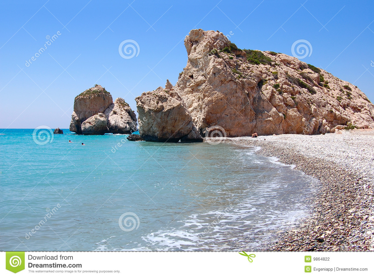 felsen von aphrodite oder petra tou ramiou stockfoto bild von mythologie griechenland 9864822. Black Bedroom Furniture Sets. Home Design Ideas