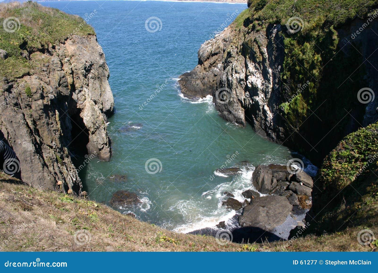 Felsenbucht auf Küste