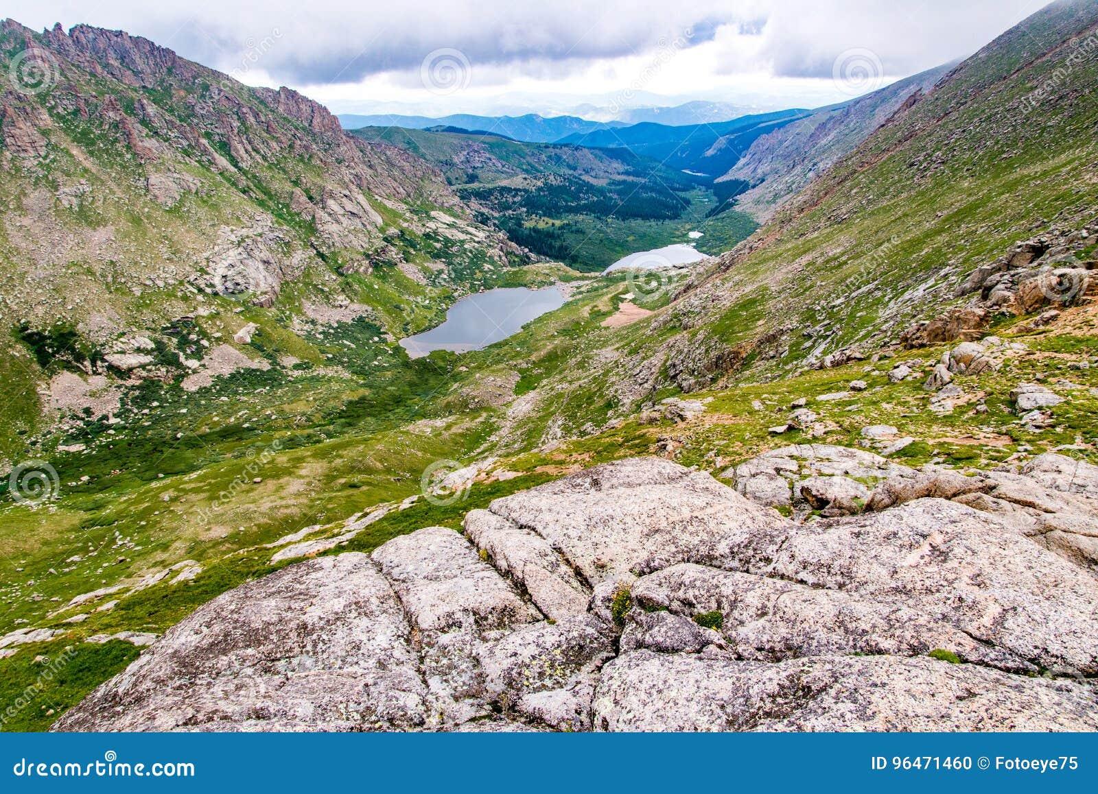 Felsige Berglandschaft mt Evans Colorado