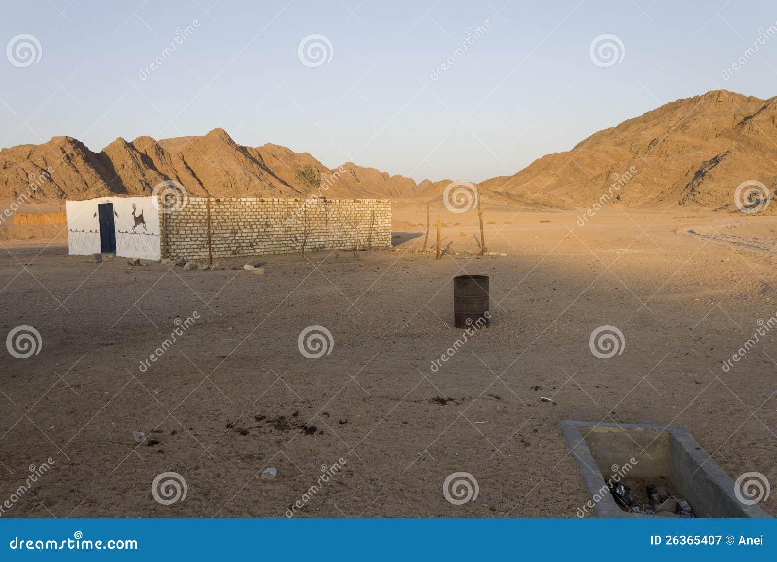 Felsige Hügel der Wüste in Hurghada