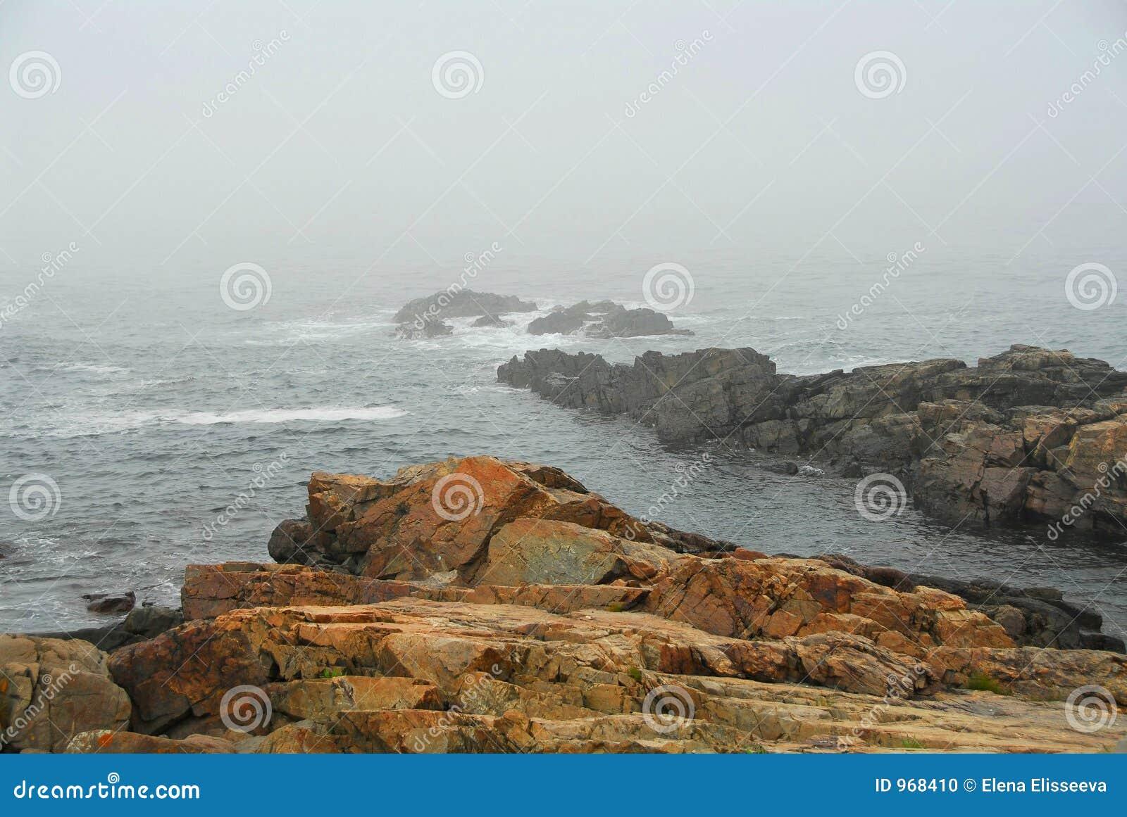 Felsige Küste in Maine