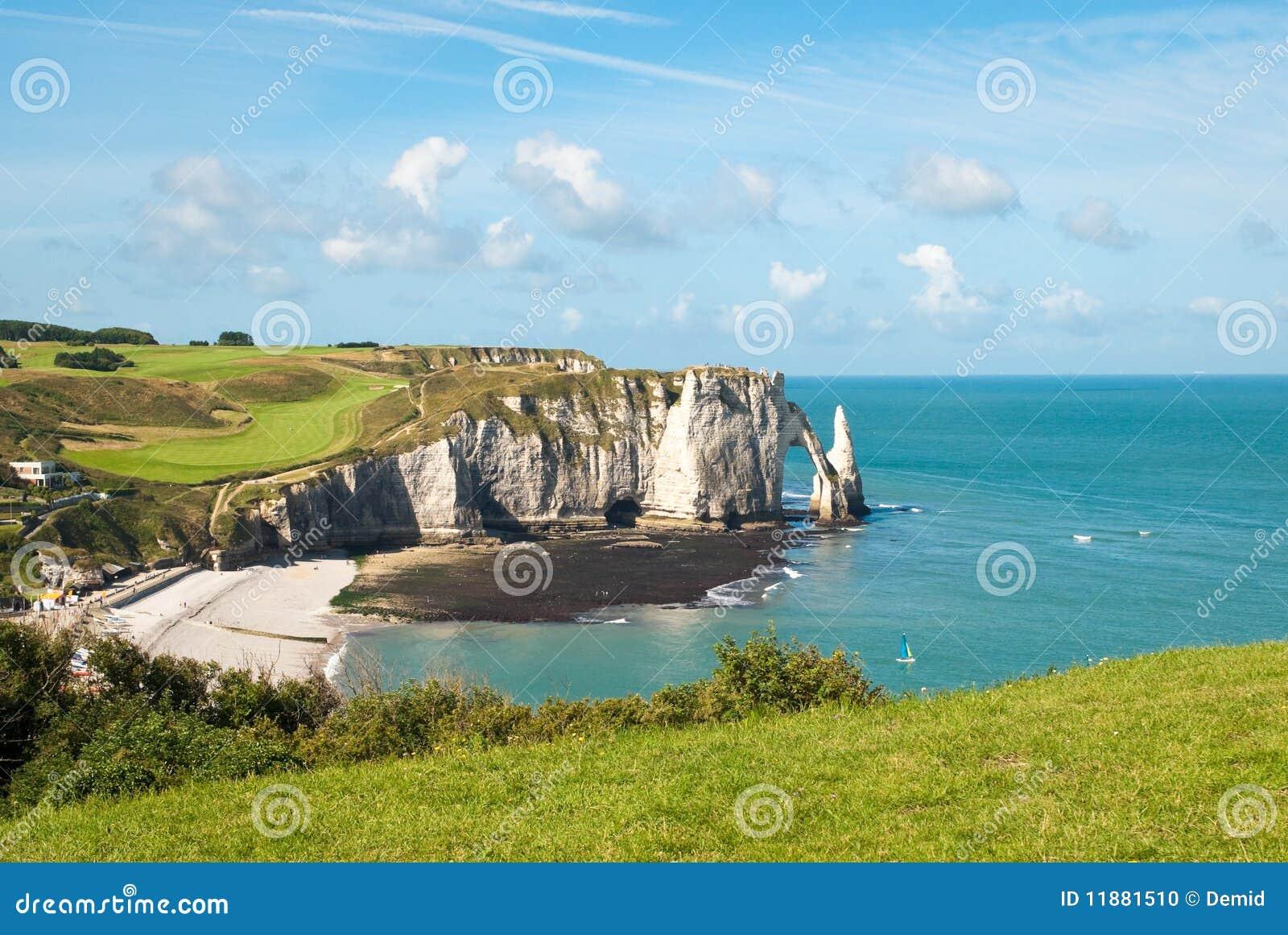 Felsiger Strand In Normandie Frankreich Stockfoto Bild Von Felsiger Frankreich 11881510