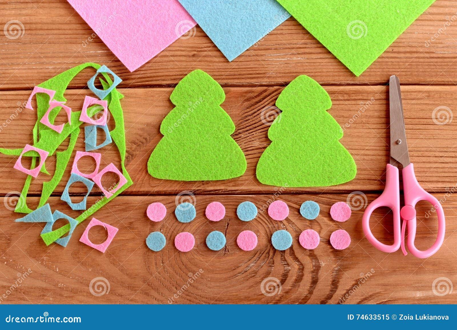 Felt Christmas Tree Decoration Patterns Felt Scraps