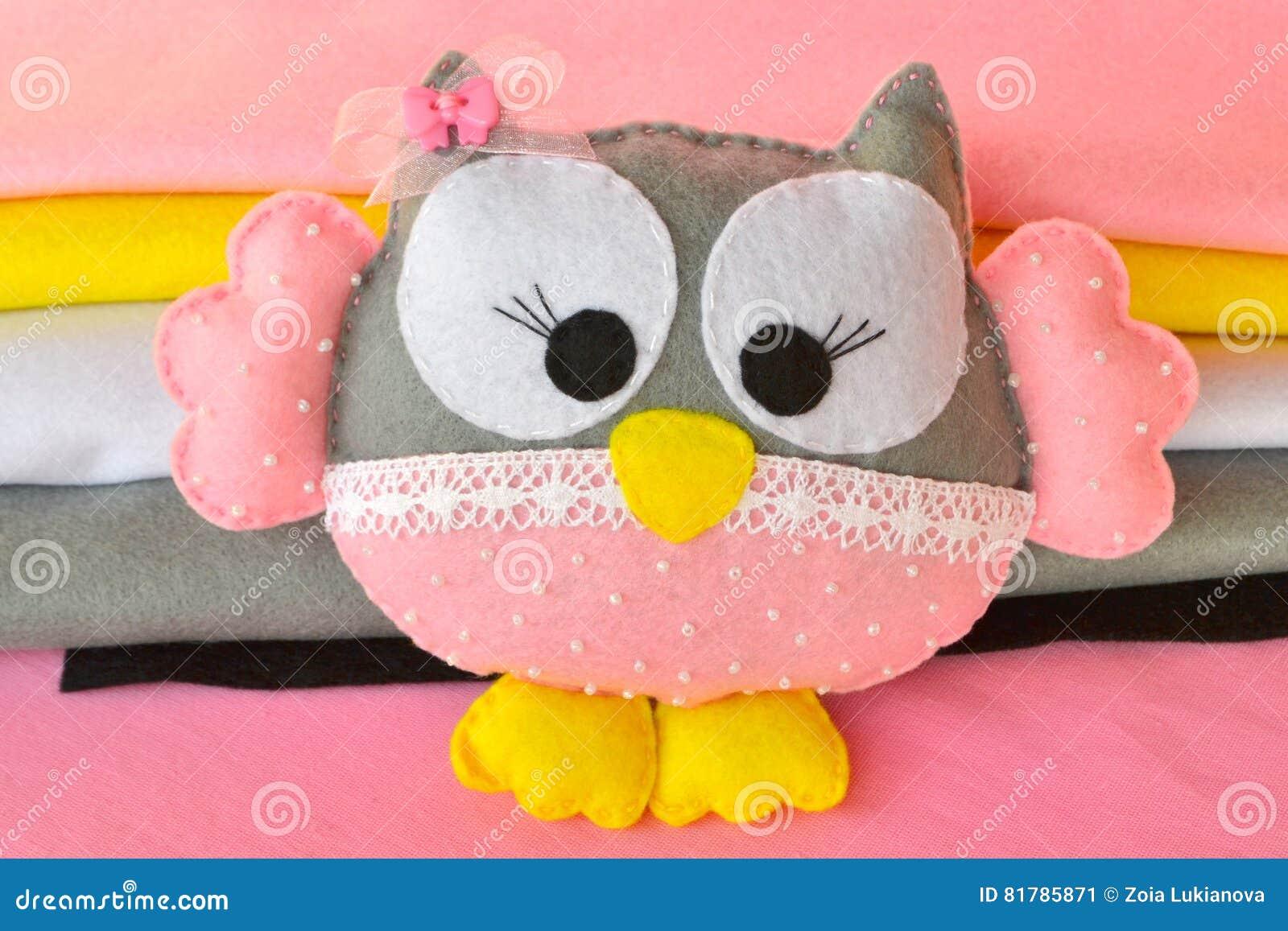 Felt Owl Cute Felt Owl Toy Home Decor Stock Image Image Of