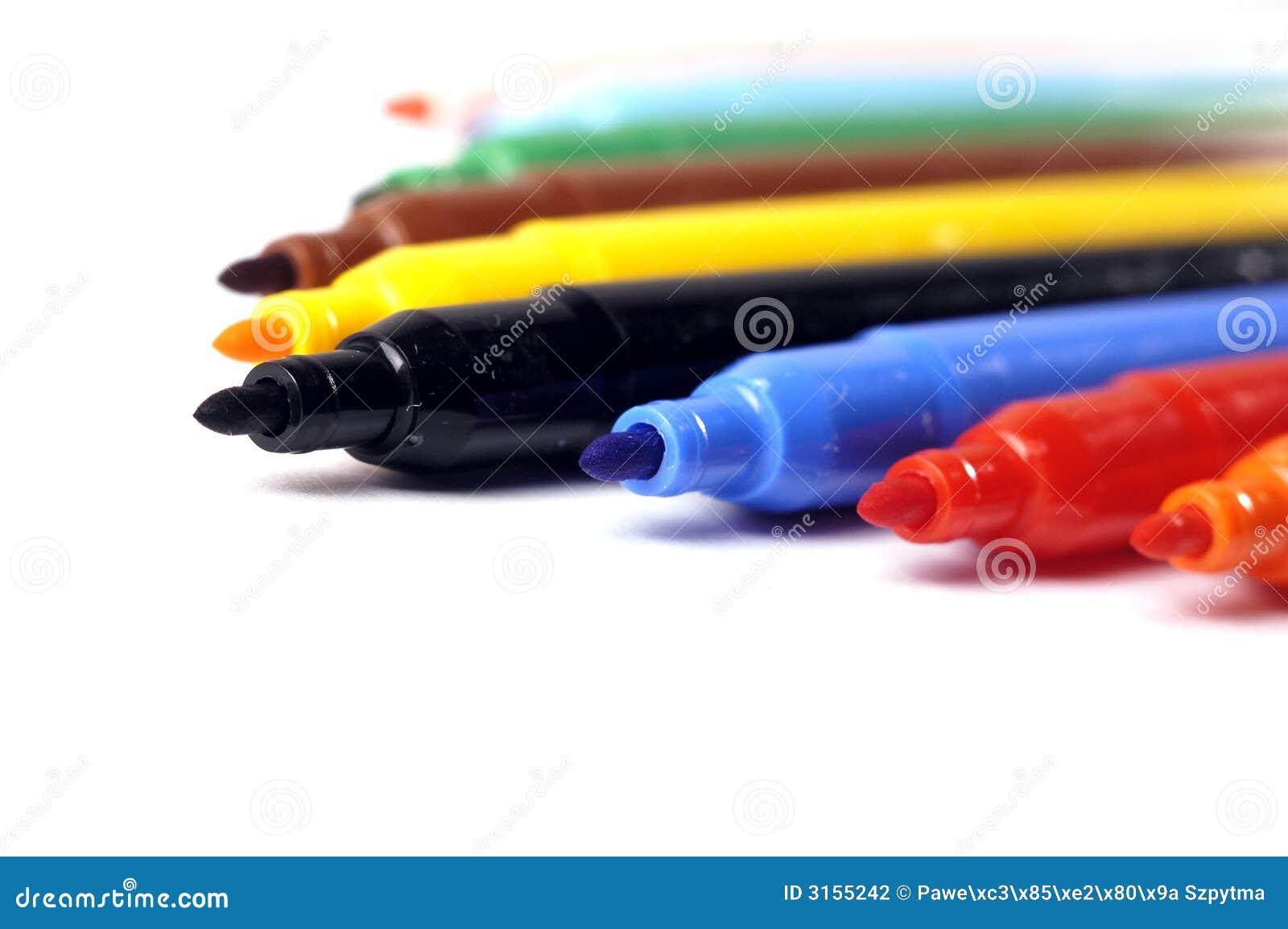 Felt Tip Pen Stock Photo Image Of Calligraphy Crayons