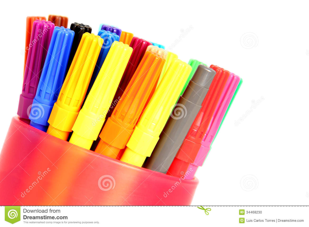 Felt Tip Pens Stock Photo Image Of Container Nobody