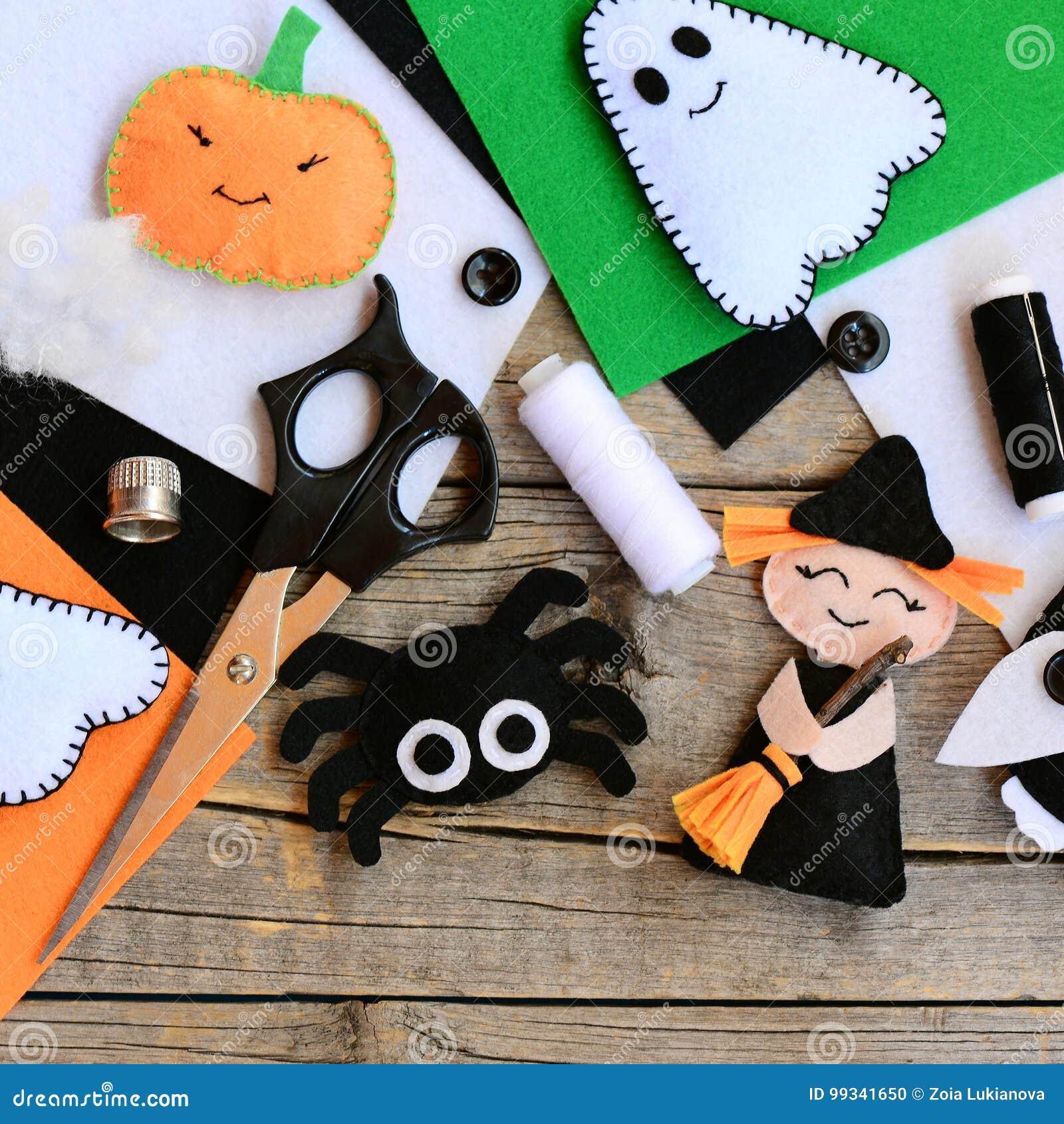 Felt Toys For Halloween Home Decor Clearance Felt Witch With