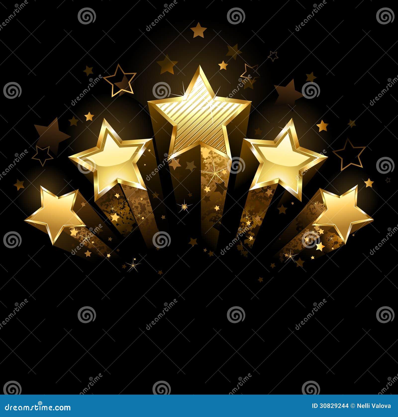 Fem guld- stjärnor